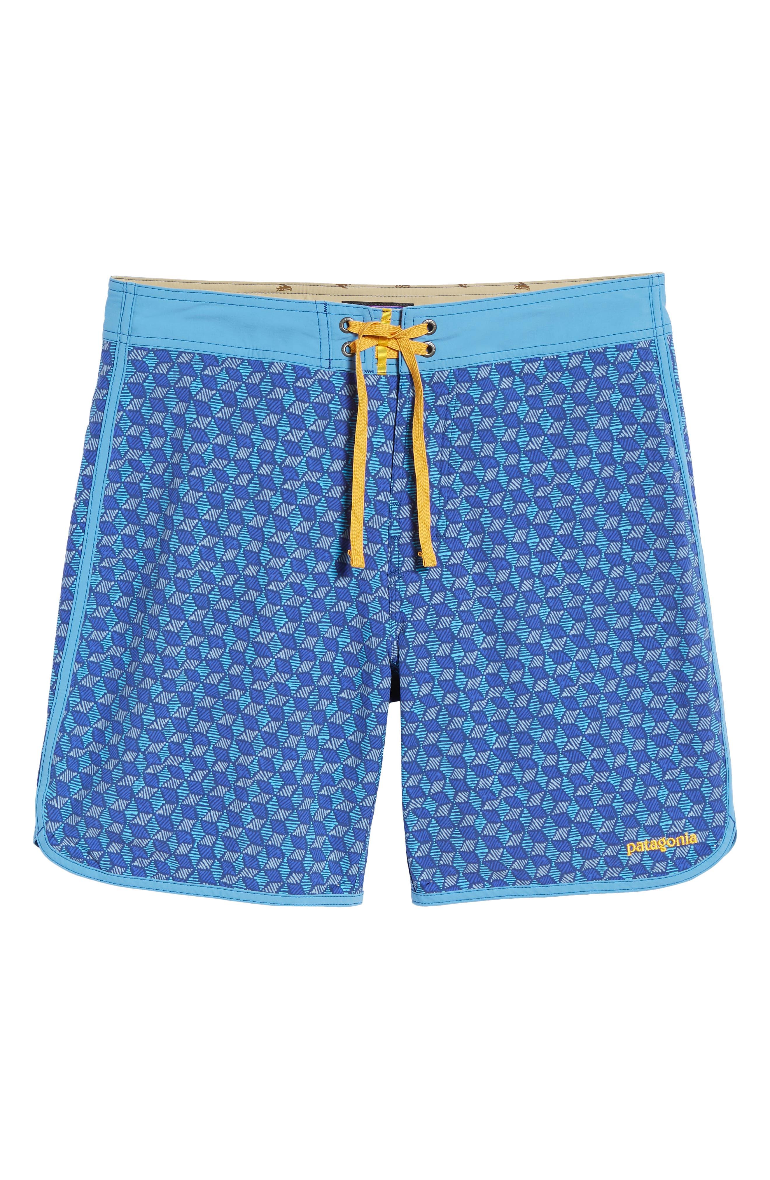Wavefarer Swim Trunks,                             Alternate thumbnail 6, color,                             BATIK HEX MULTI/ RADAR BLUE
