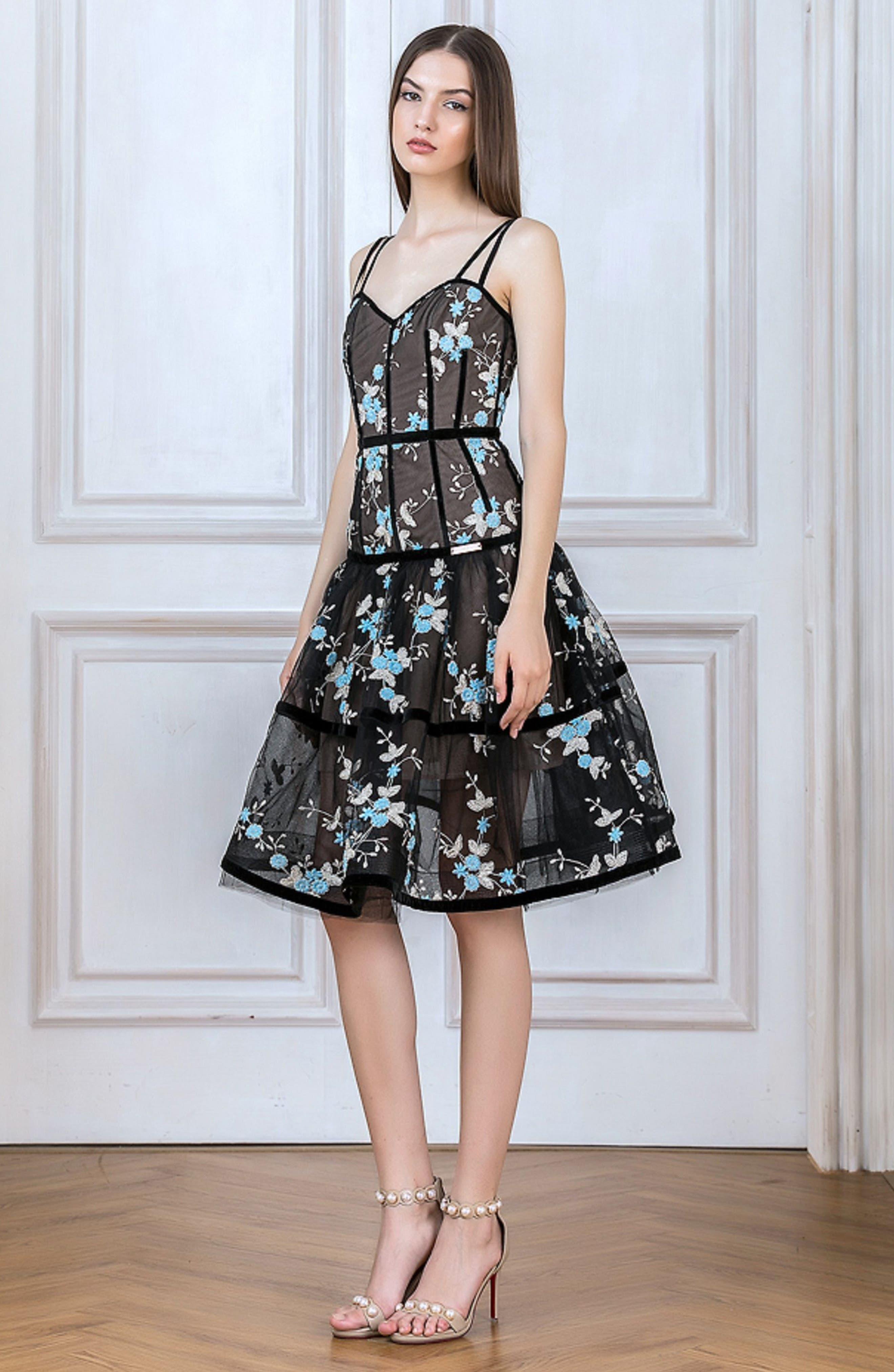 Marietta Fit & Flare Dress,                             Alternate thumbnail 10, color,