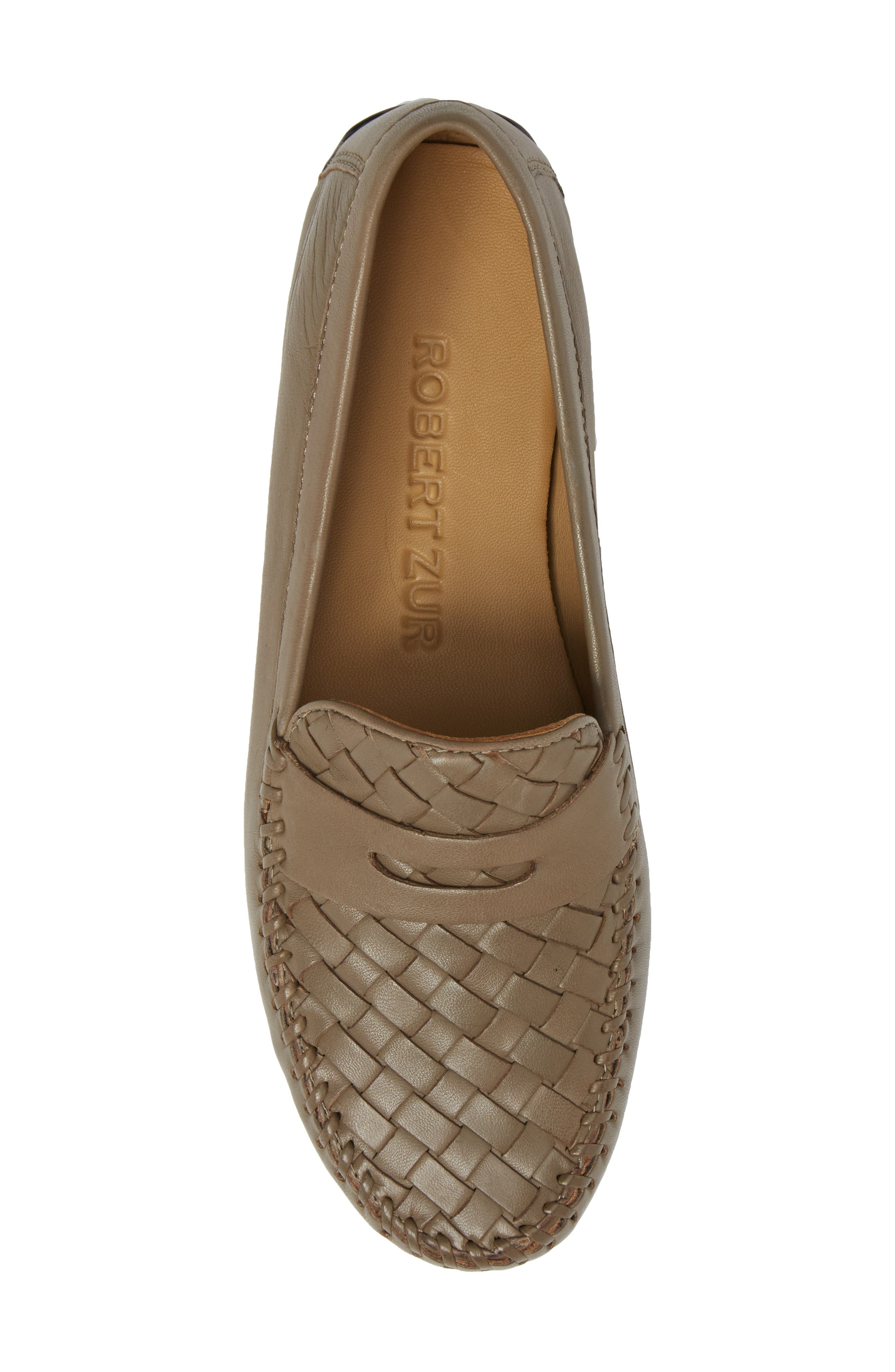 'Petra' Driving Shoe,                             Alternate thumbnail 5, color,                             UMBER LEATHER