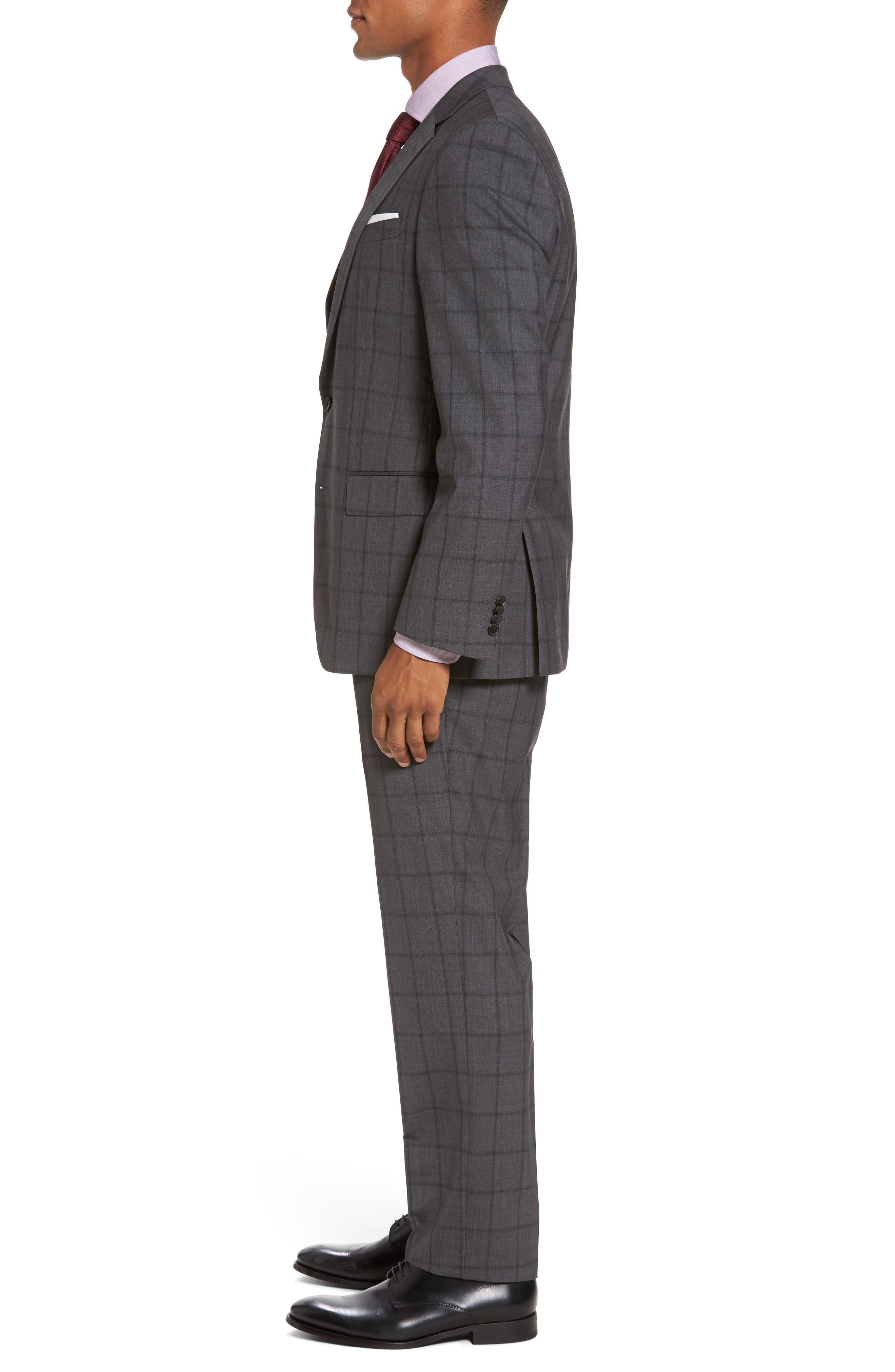 Huge/Genius Trim Fit Check Suit,                             Alternate thumbnail 3, color,                             061