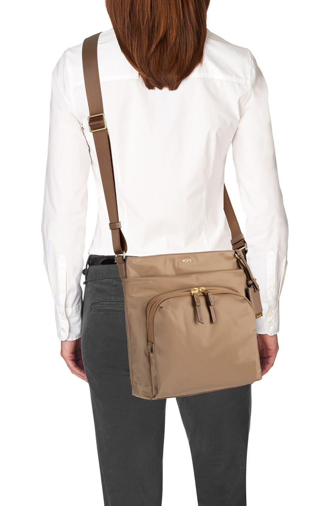 Voyageur - Capri Nylon Crossbody Bag,                             Alternate thumbnail 3, color,                             KHAKI