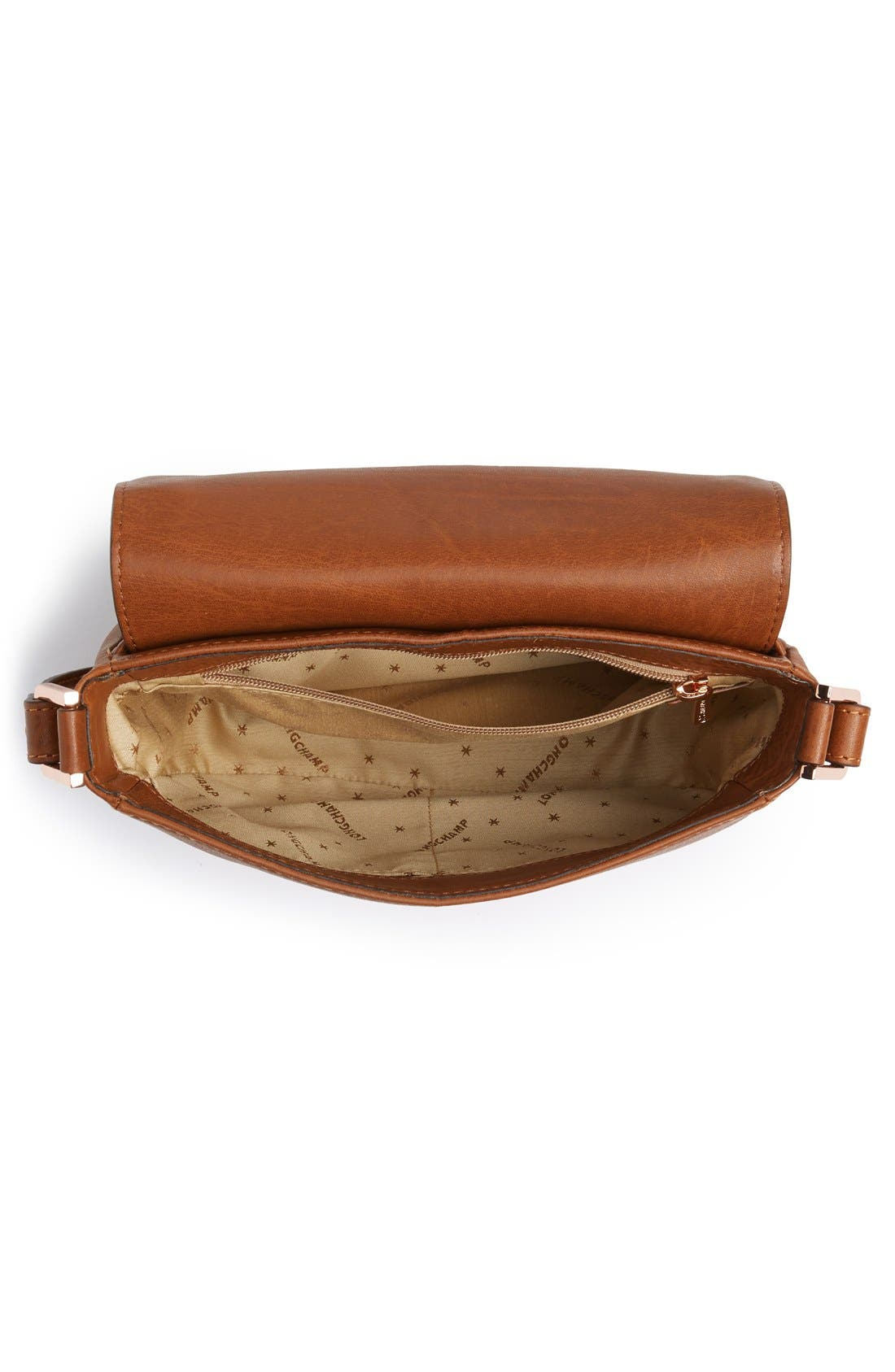 'Small Mystery' Leather Crossbody Bag,                             Alternate thumbnail 5, color,