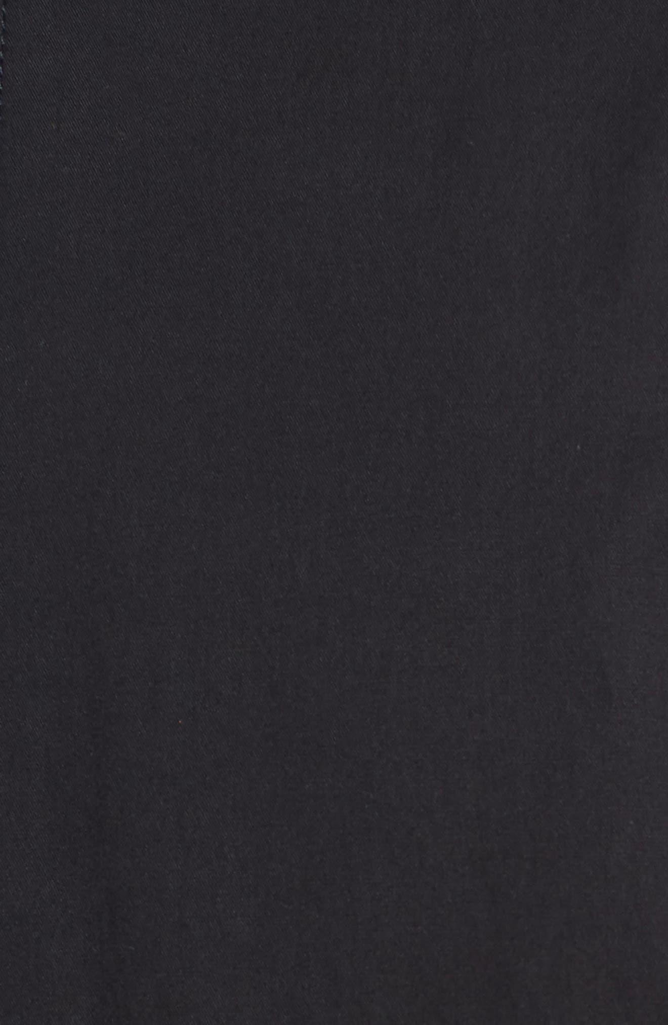 Regular Fit Bomber Jacket,                             Alternate thumbnail 6, color,                             BLACK