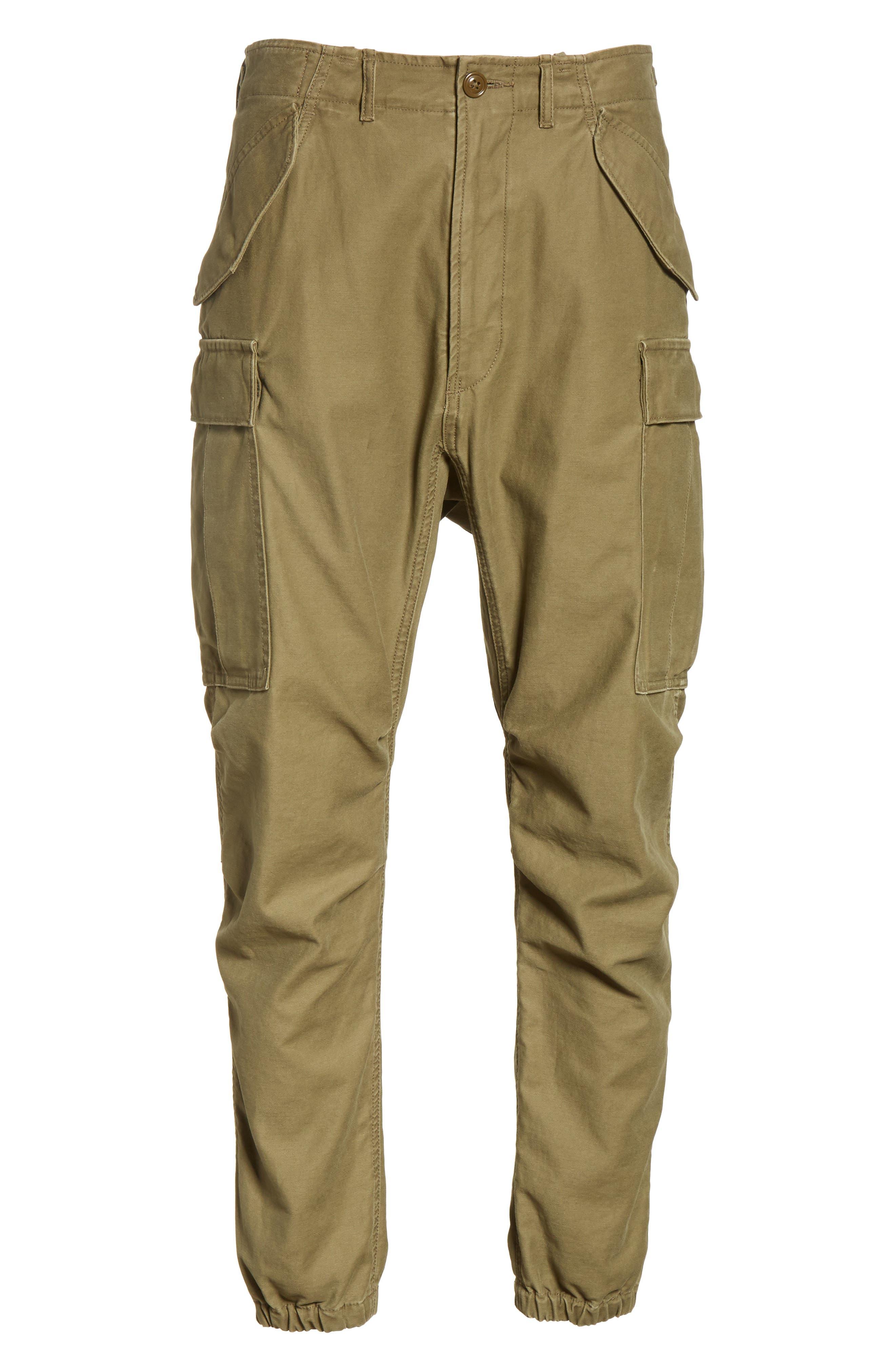 Surplus Military Cargo Pants,                             Alternate thumbnail 6, color,                             OLIVE