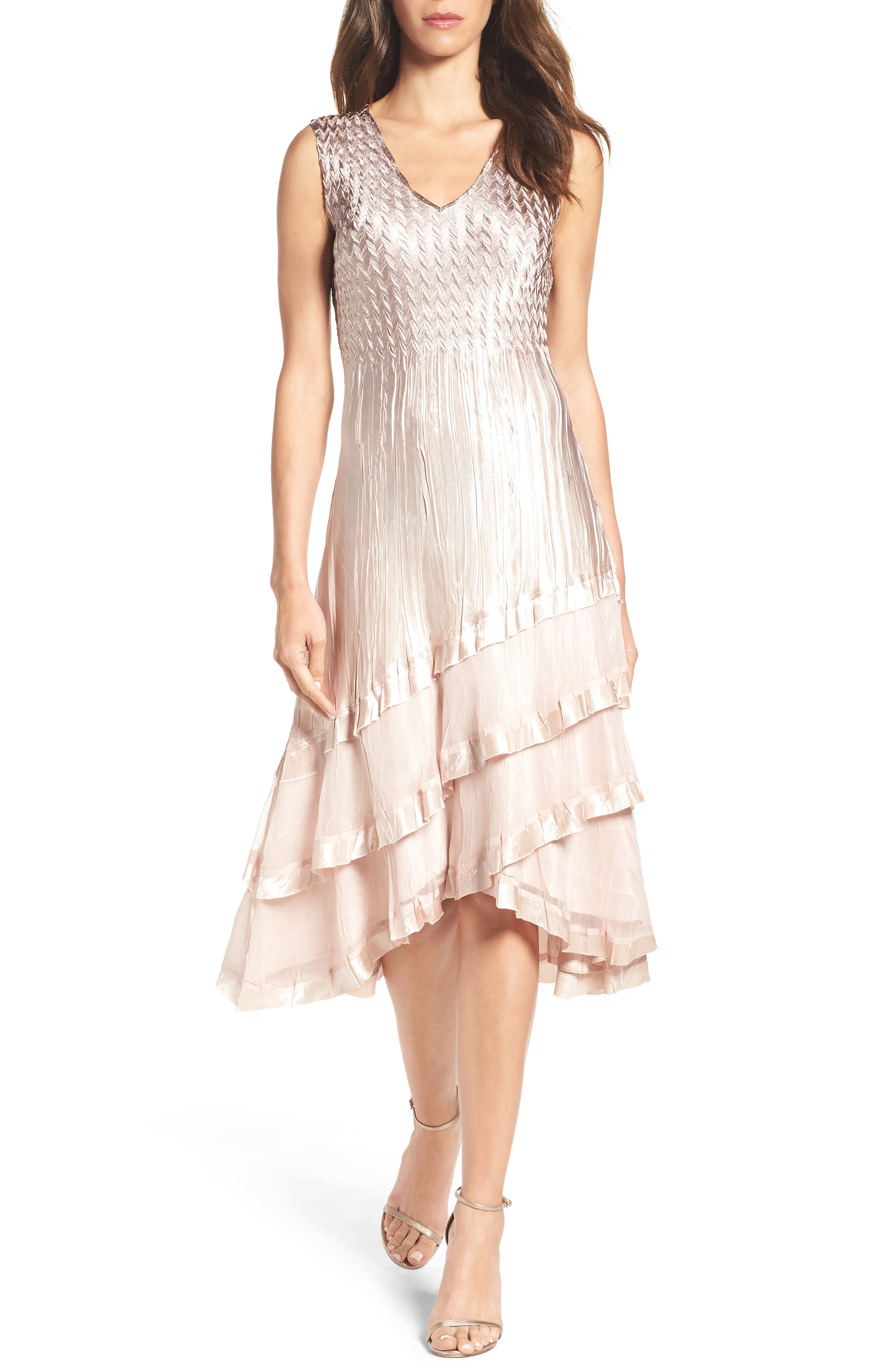 Tiered Dress with Jacket,                             Alternate thumbnail 3, color,                             253