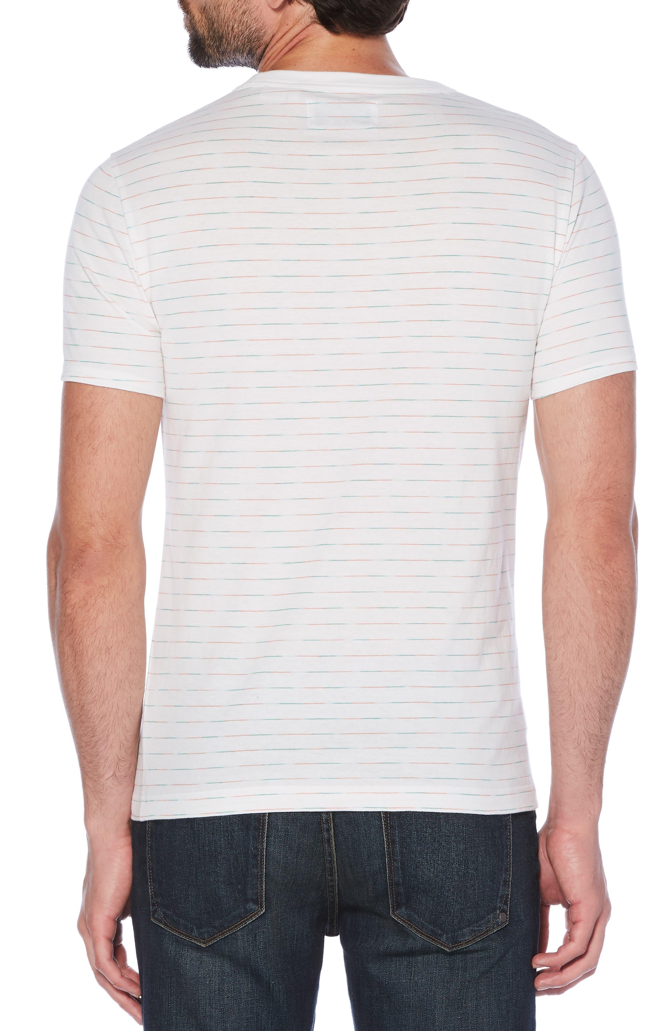 Space Dye Stripe T-Shirt,                             Alternate thumbnail 2, color,                             BRIGHT WHITE