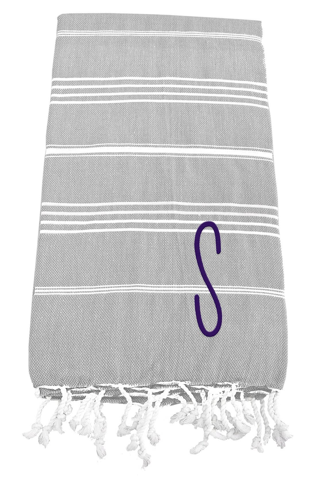 Monogram Turkish Cotton Towel,                             Main thumbnail 21, color,