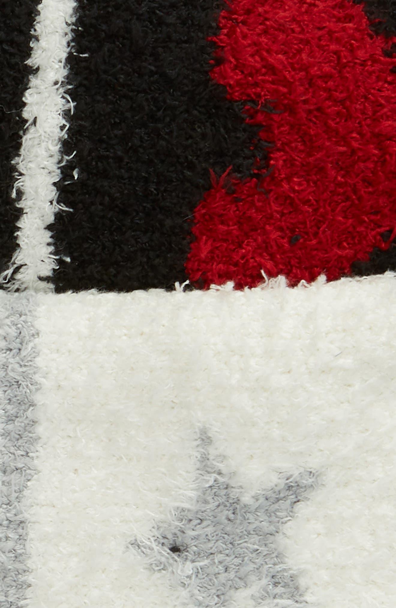 PJ SALVAGE,                             2-Pack Butter Slipper Socks,                             Alternate thumbnail 2, color,                             STAR/ HEART BLACK