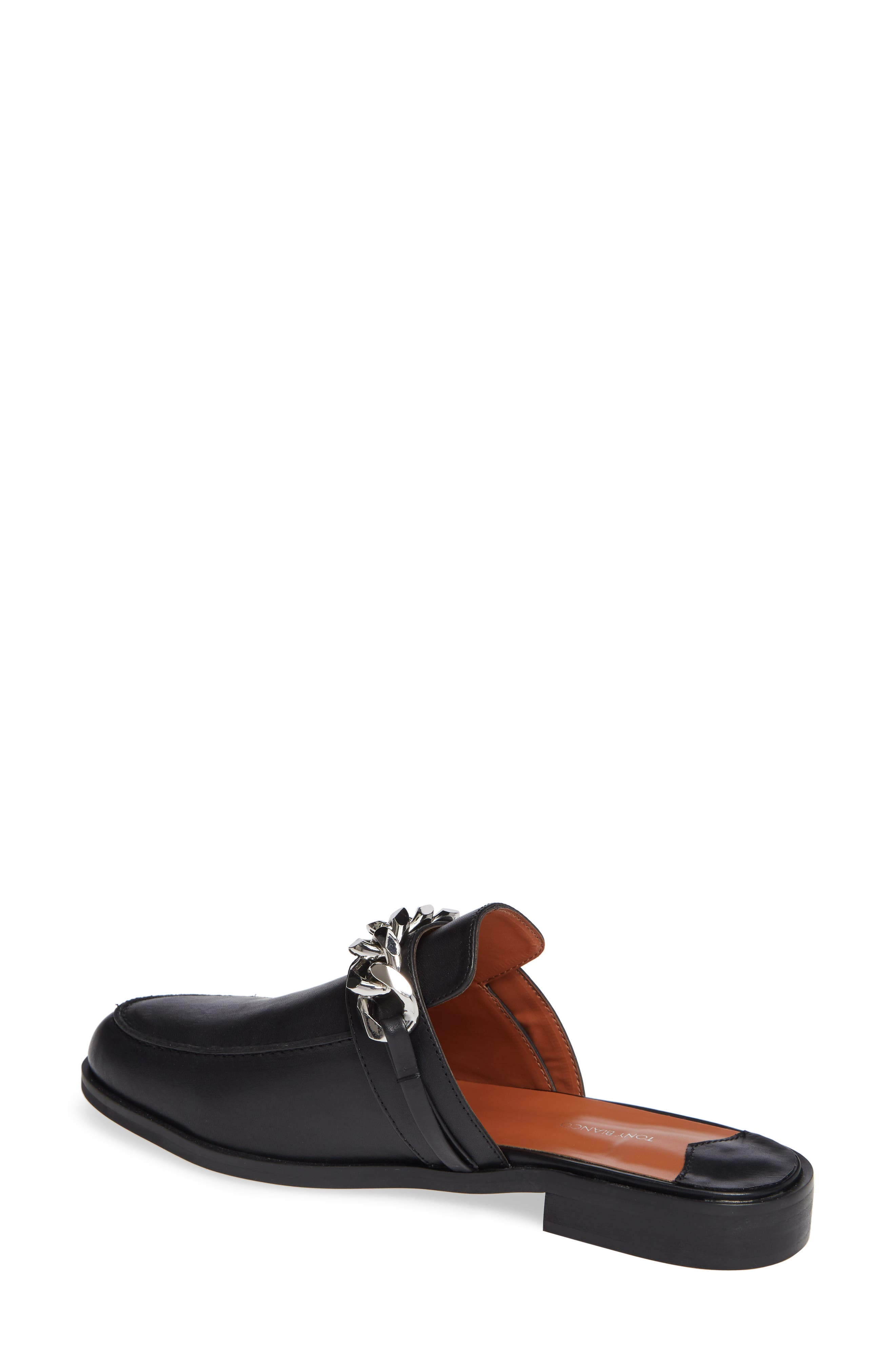 TONY BIANCO,                             Dion Mule,                             Alternate thumbnail 2, color,                             BLACK SMOOTH LEATHER