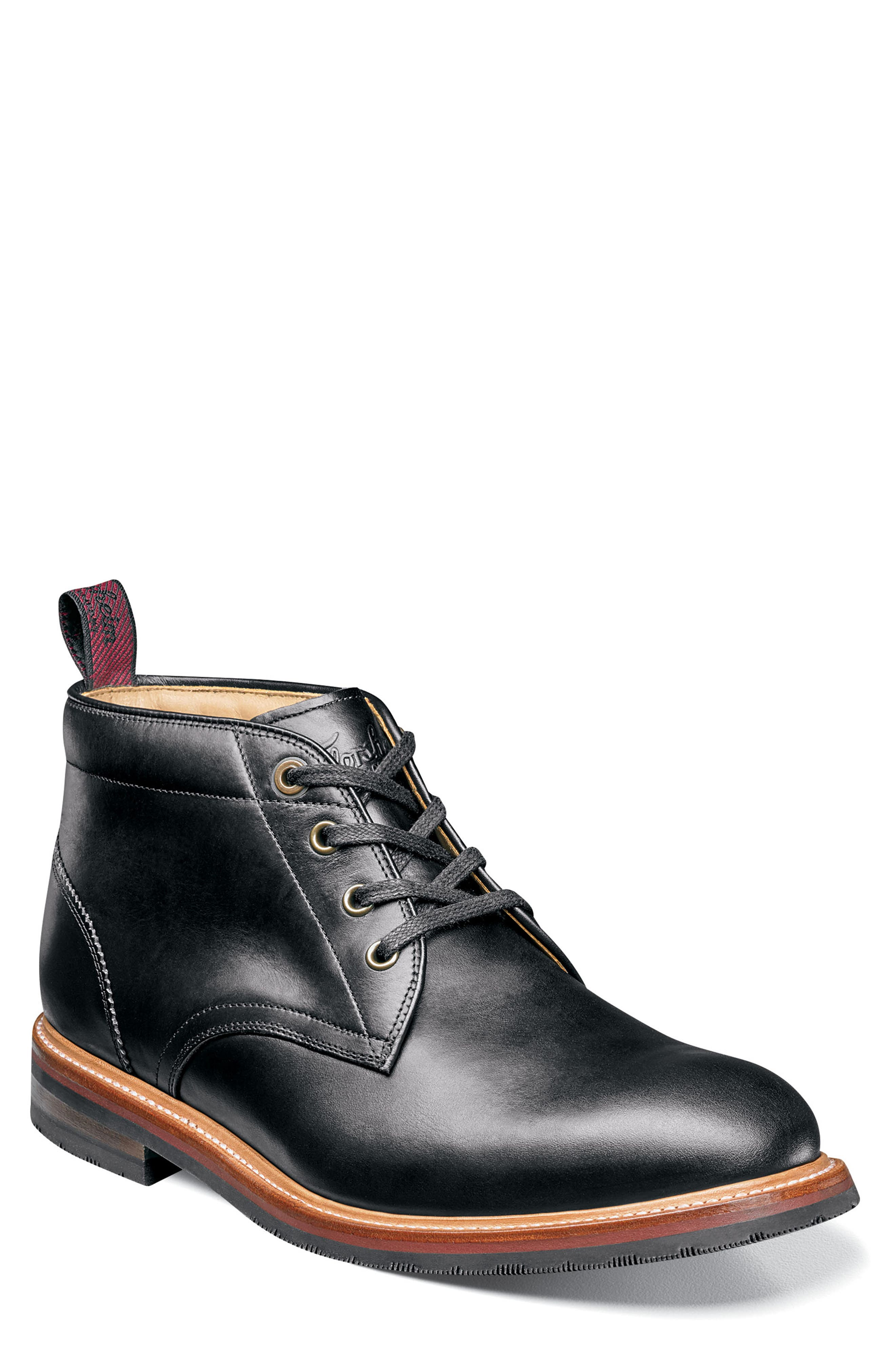 Foundry Leather Boot,                             Main thumbnail 1, color,                             BLACK LEATHER