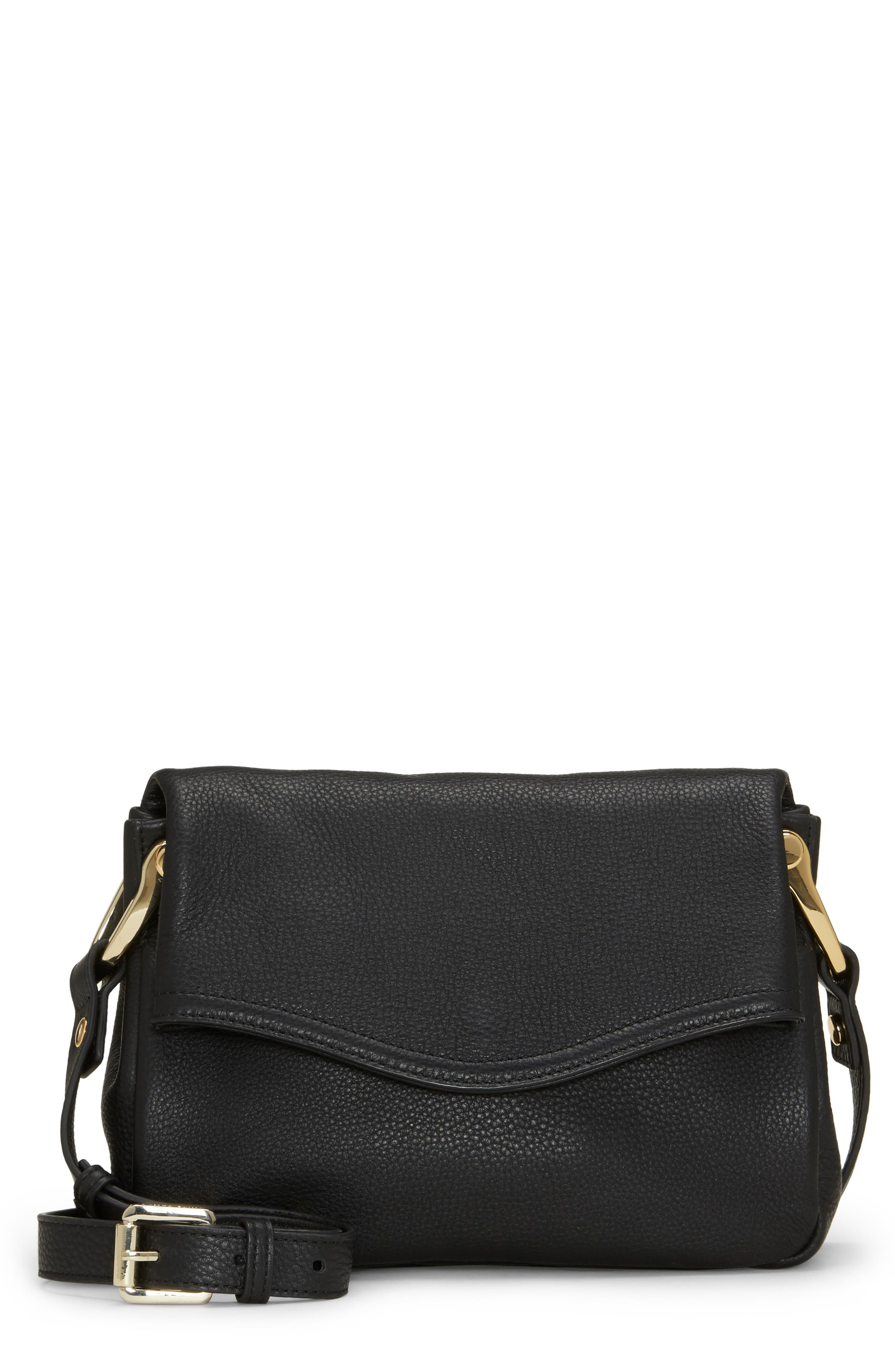 VINCE CAMUTO Clem Leather Crossbody Bag, Main, color, 001