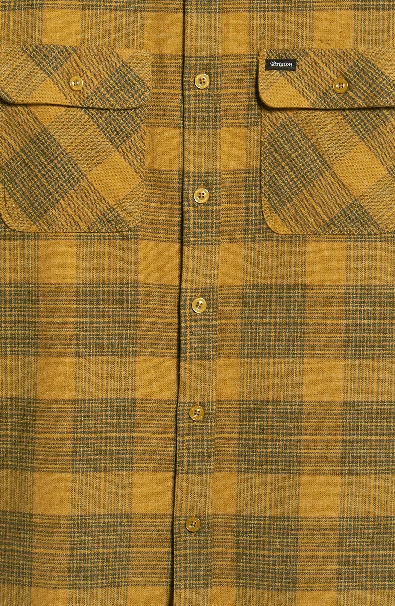 Bowery Flannel Shirt,                             Alternate thumbnail 6, color,                             AVOCADO