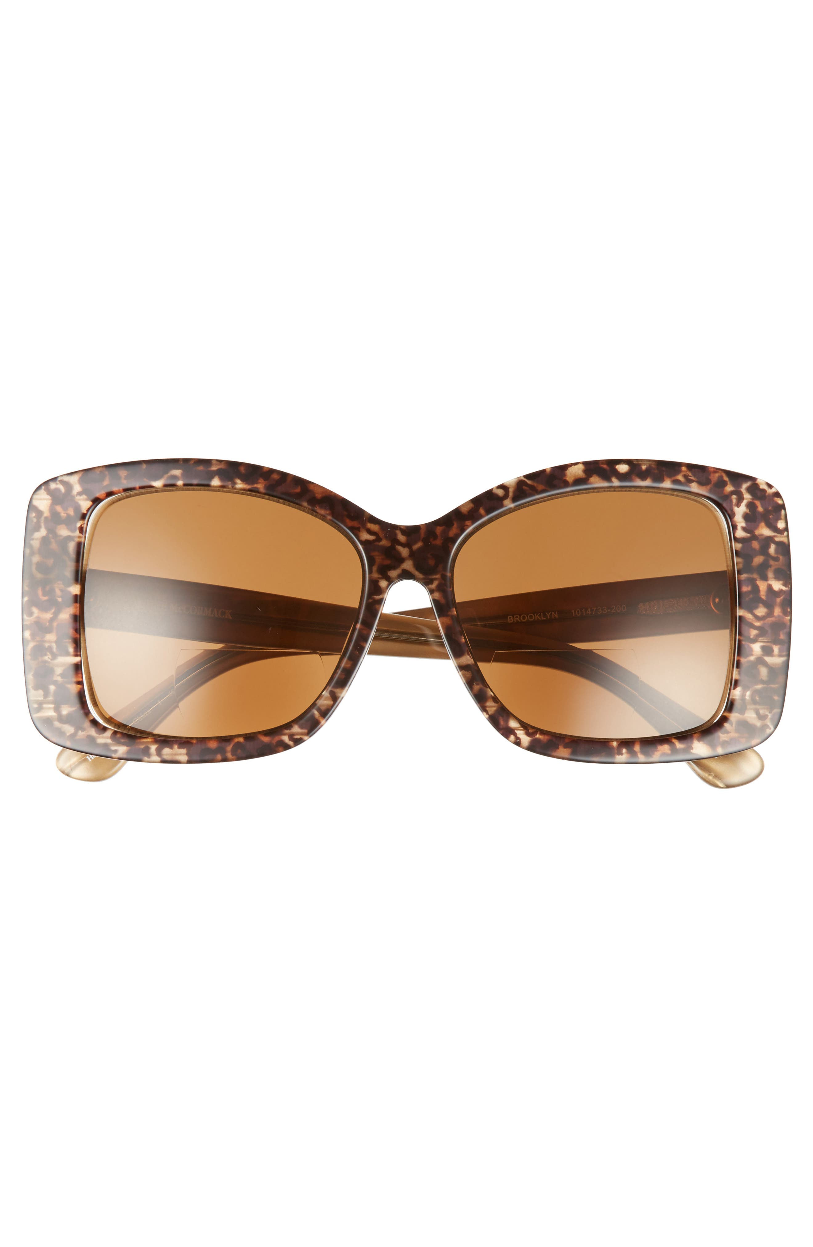 Brooklyn 54mm Reading Sunglasses,                             Alternate thumbnail 3, color,                             BROWN