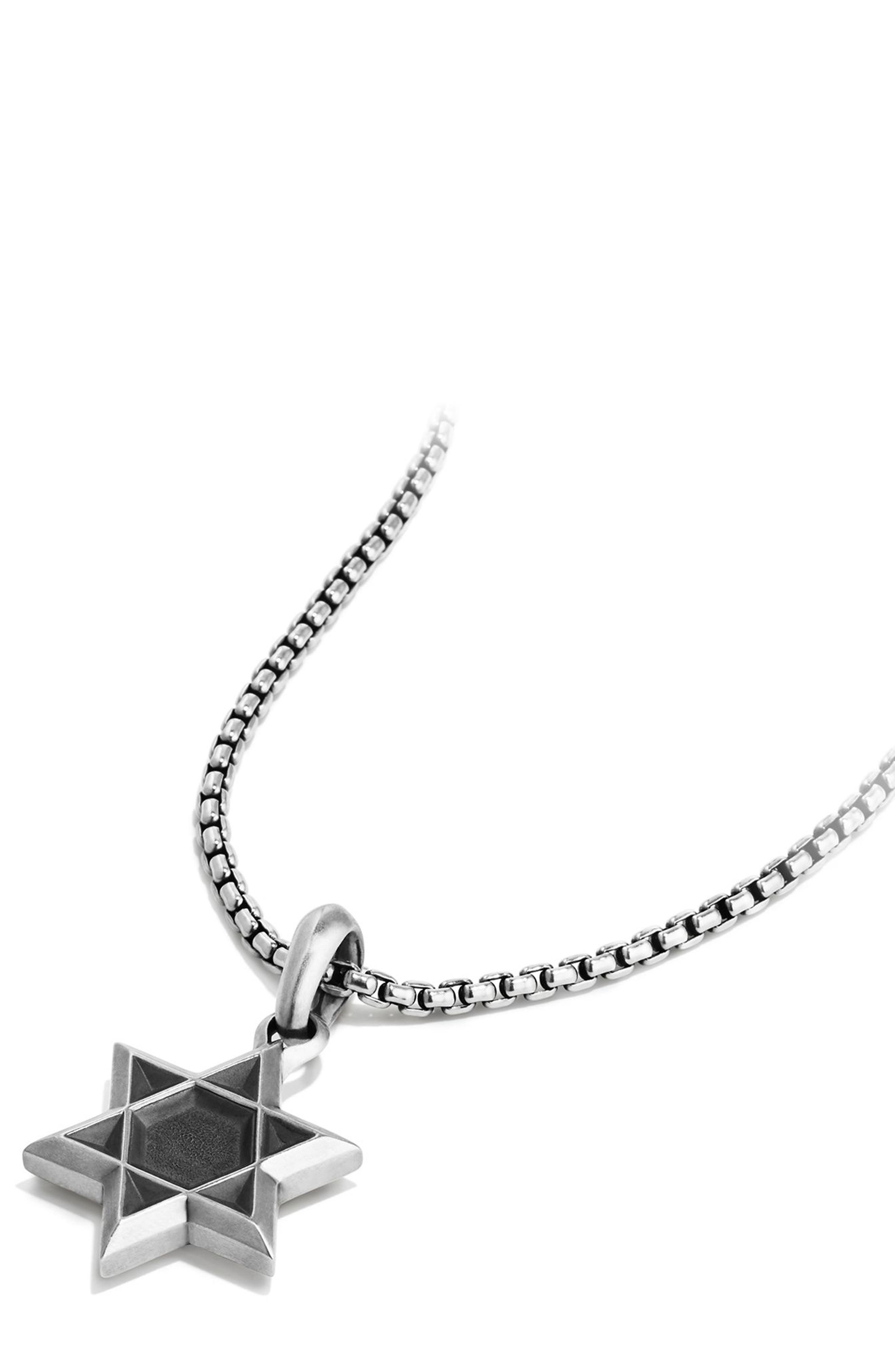 Star of David Amulet,                             Alternate thumbnail 4, color,                             SILVER