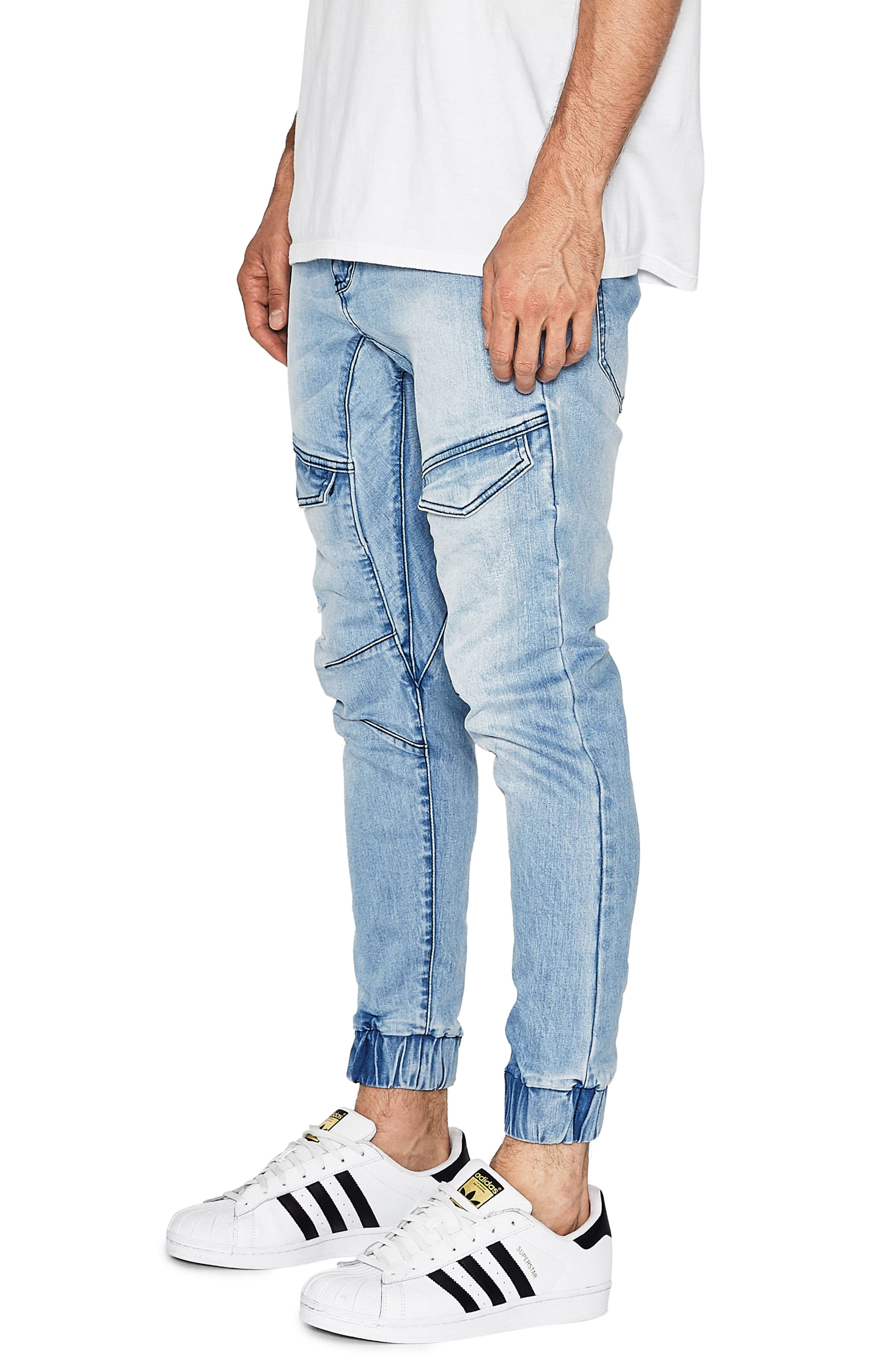 Flight Skinny Denim Jogger Pants,                             Alternate thumbnail 22, color,