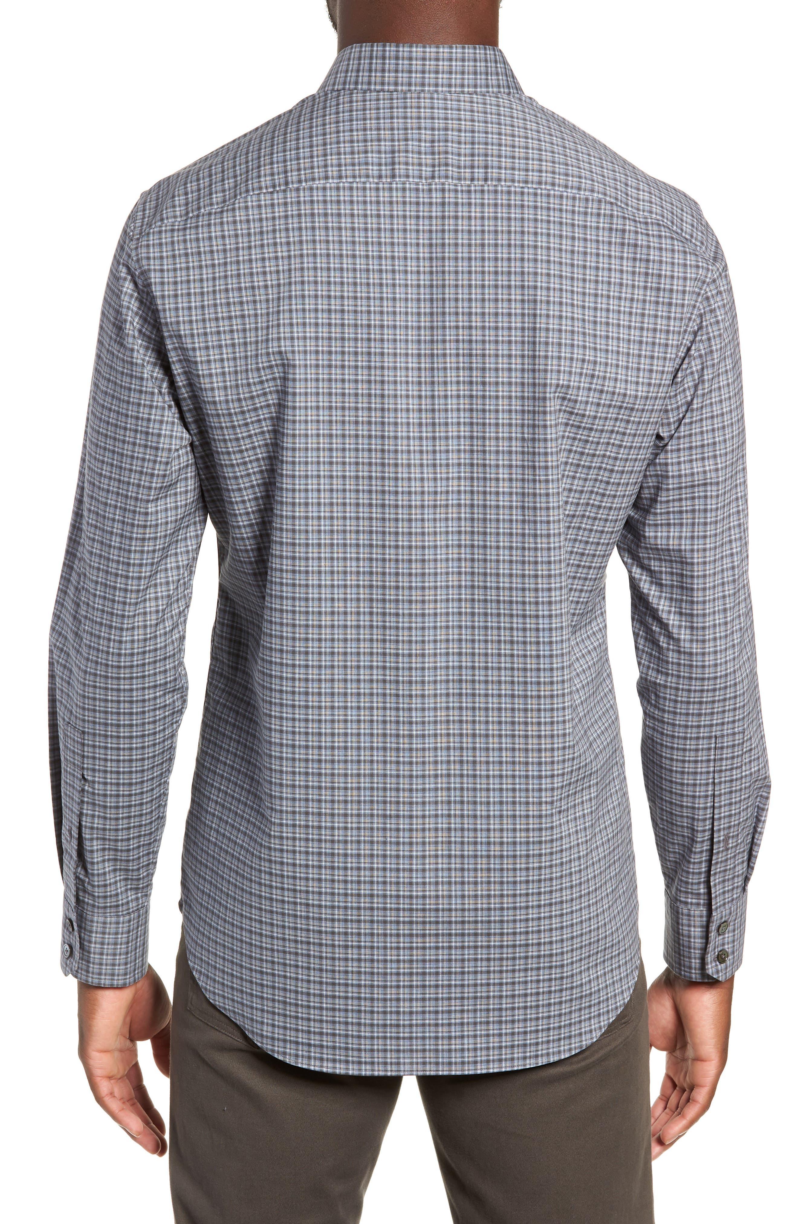 ZACHARY PRELL,                             Chu Regular Fit Plaid Sport Shirt,                             Alternate thumbnail 3, color,                             021