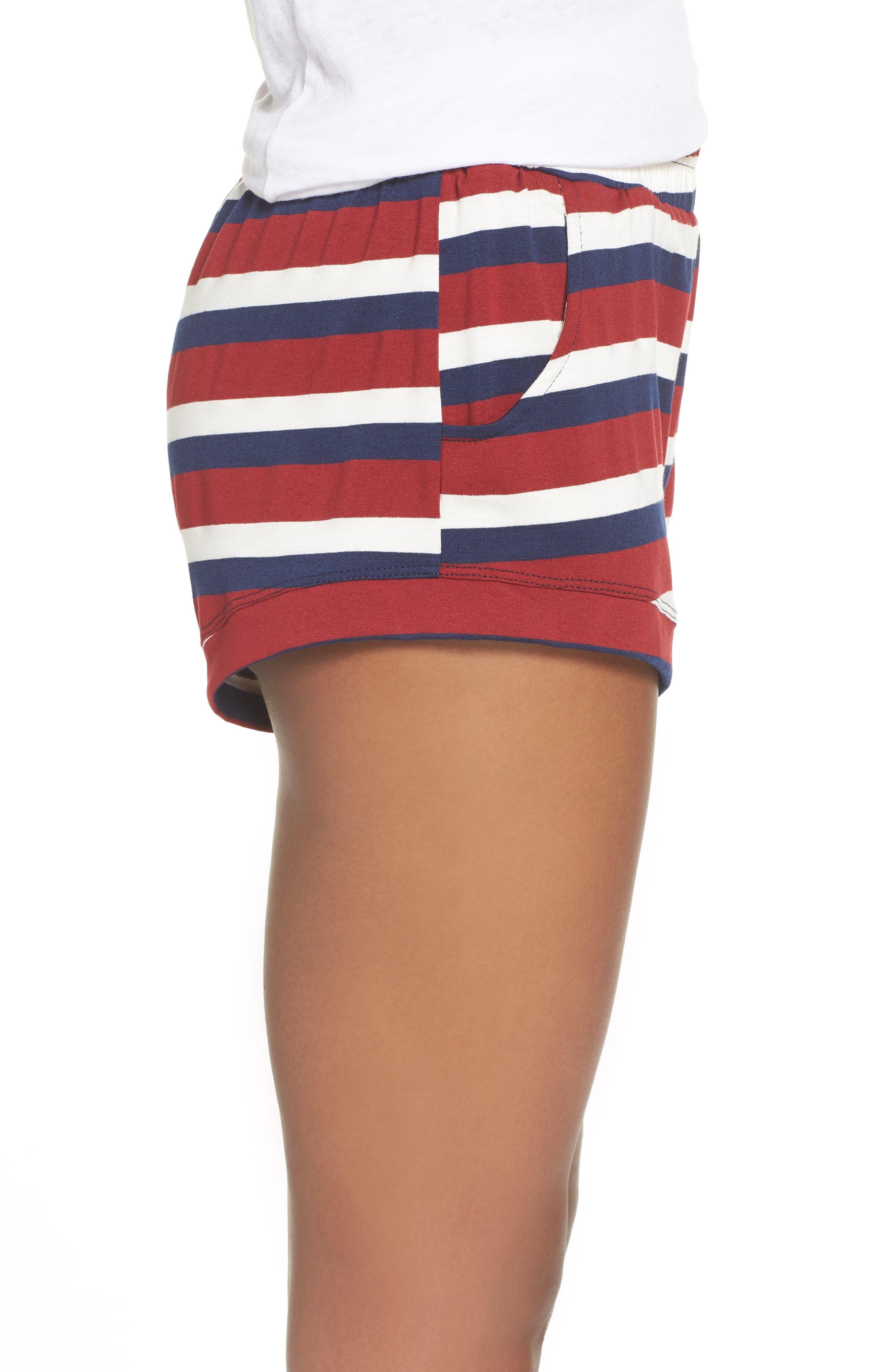 Elody Shorts,                             Alternate thumbnail 3, color,                             BRICK STRIPE