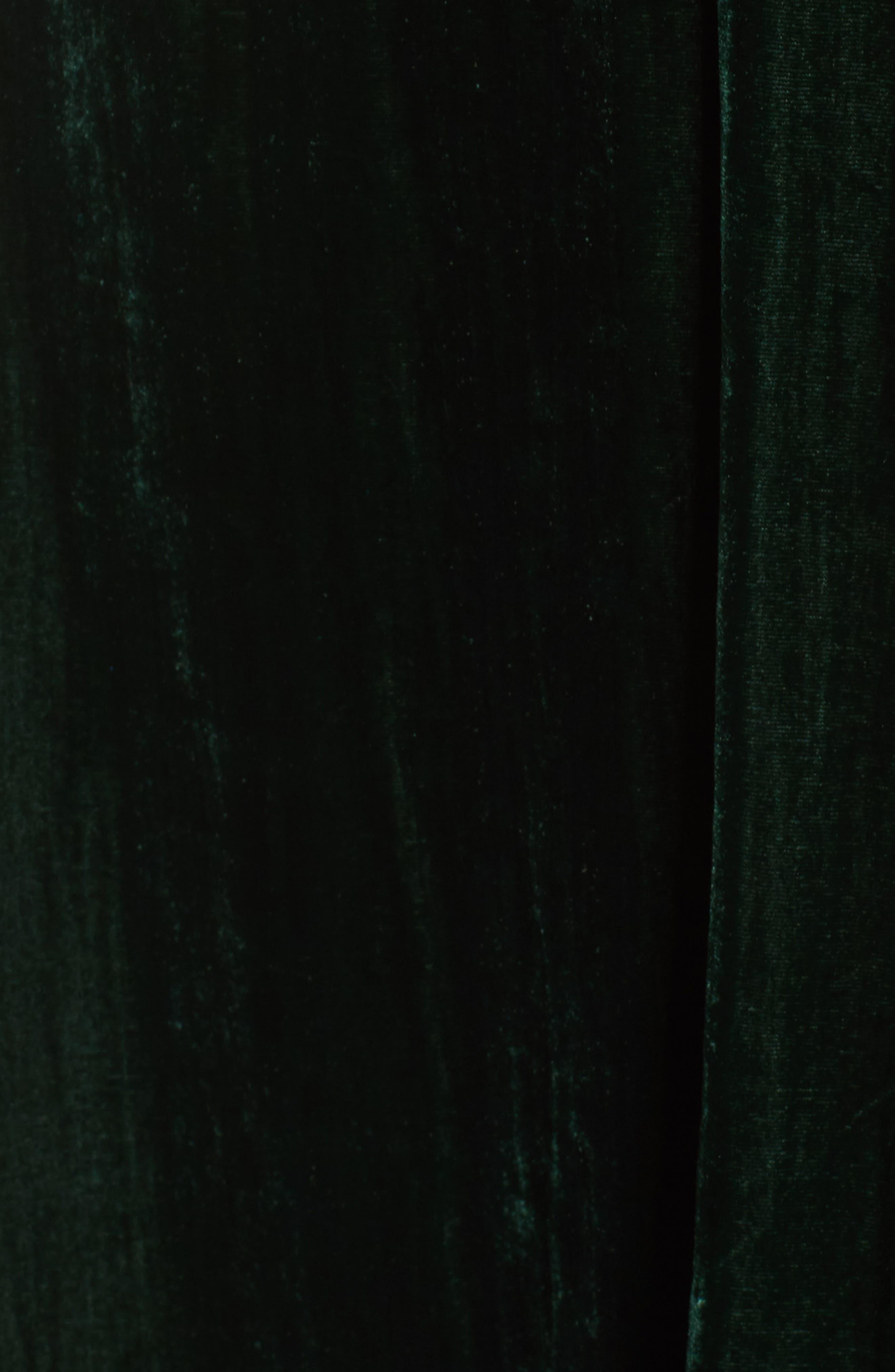 Cold Shoulder Velvet Midi Dress,                             Alternate thumbnail 5, color,                             301