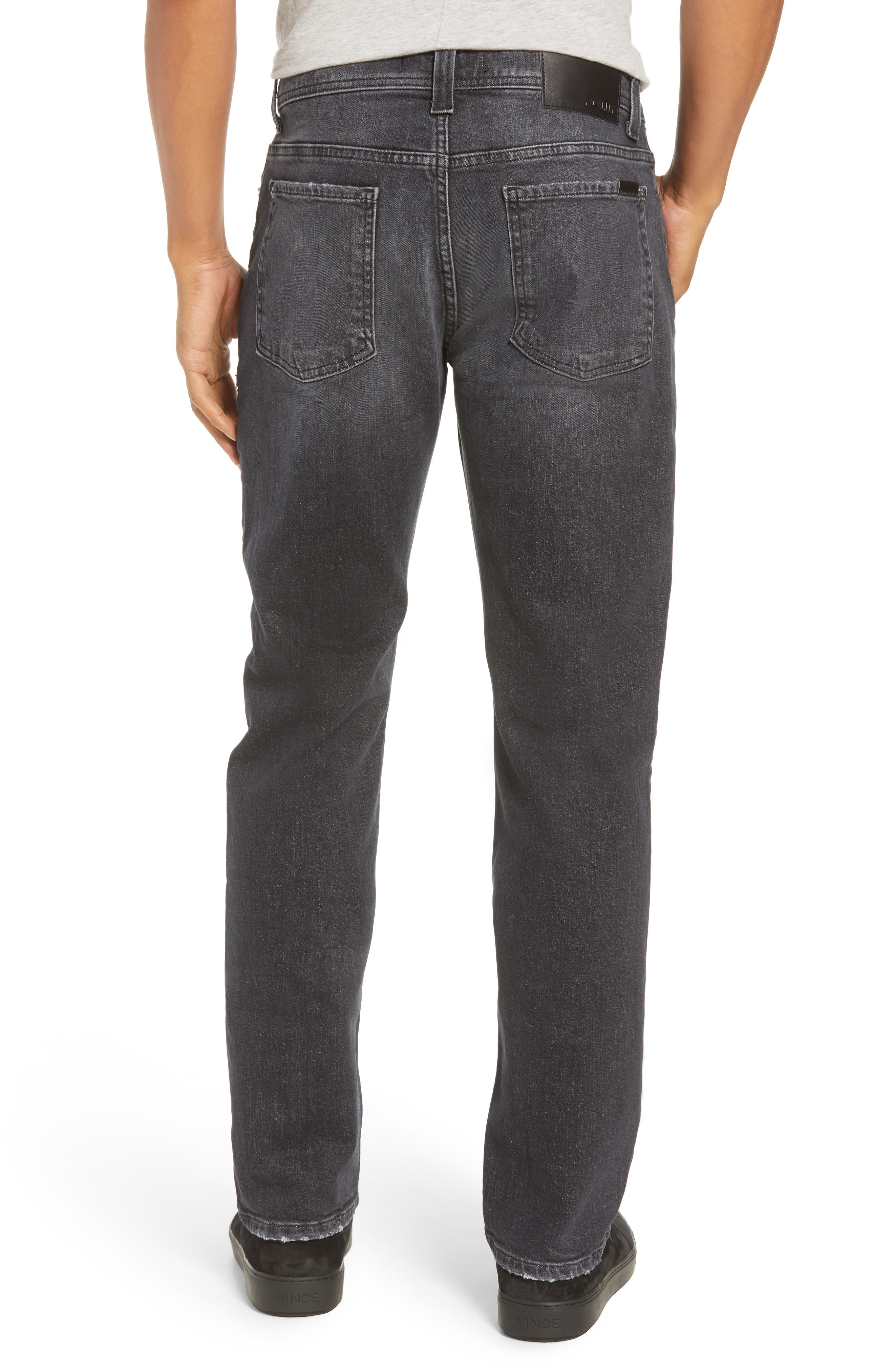 Jimmy Slim Straight Leg Jeans,                             Alternate thumbnail 2, color,                             RAVEN VINTAGE