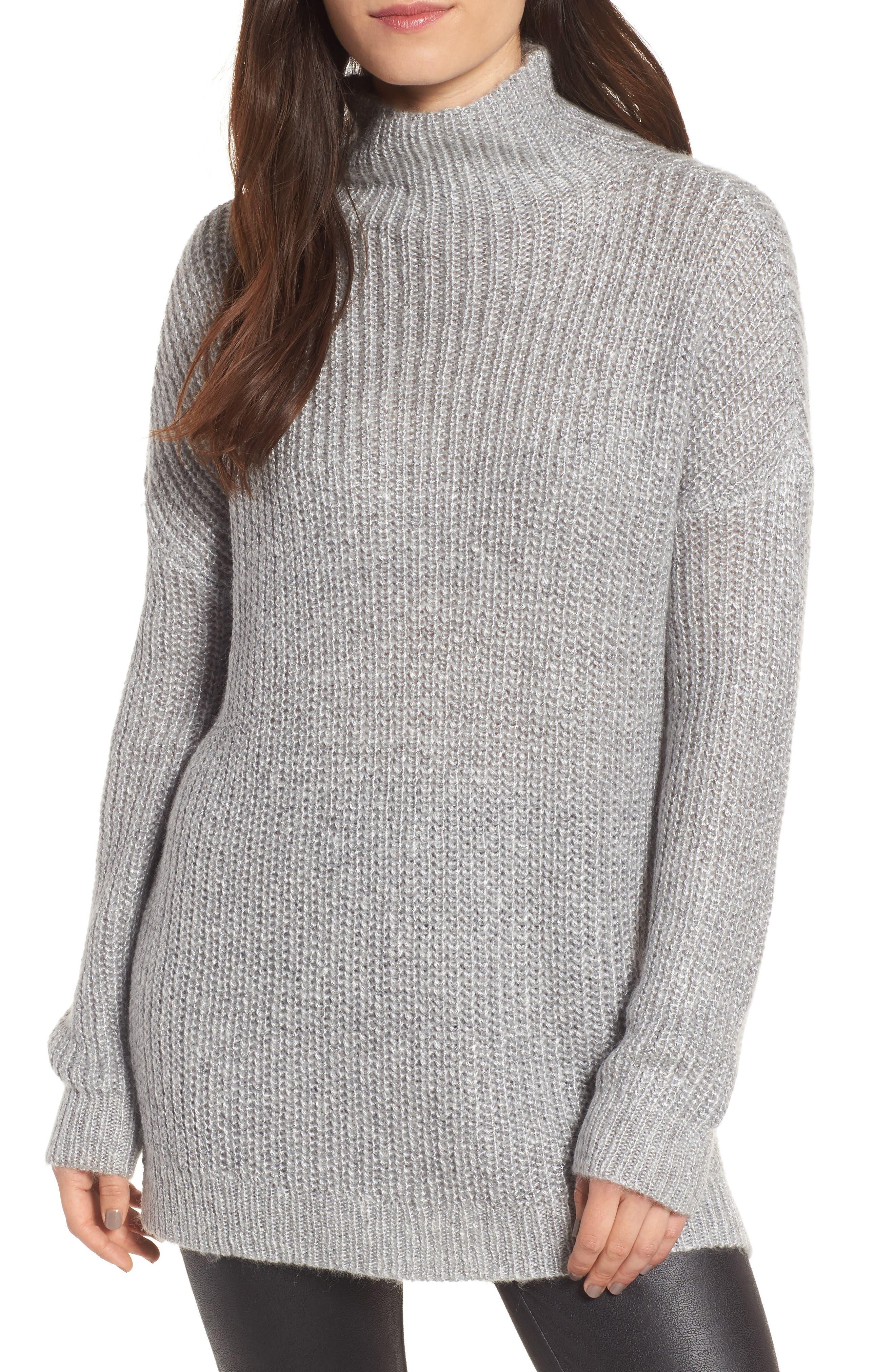 Rib Knit Sweater,                             Main thumbnail 1, color,                             030