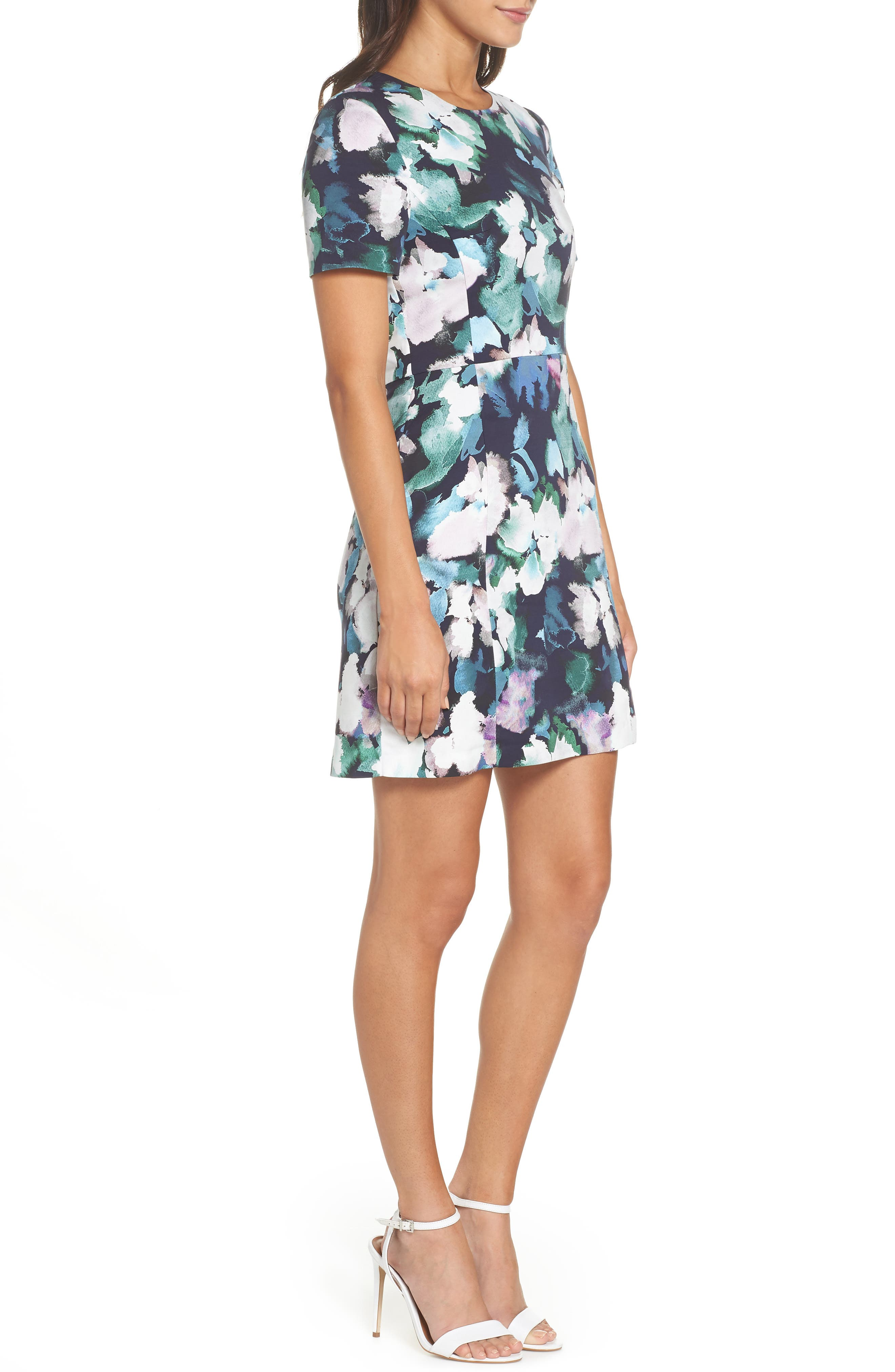Eleanor Sheath Dress,                             Alternate thumbnail 3, color,                             UTILITY MULTI