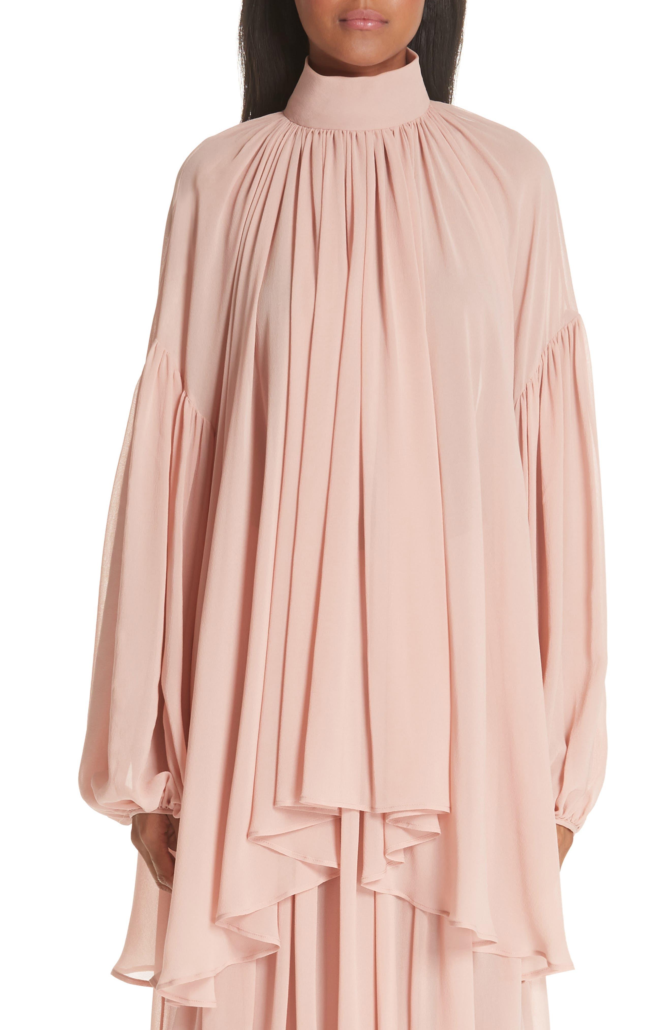 STELLA MCCARTNEY Tanya Gathered Silk Top, Main, color, 650