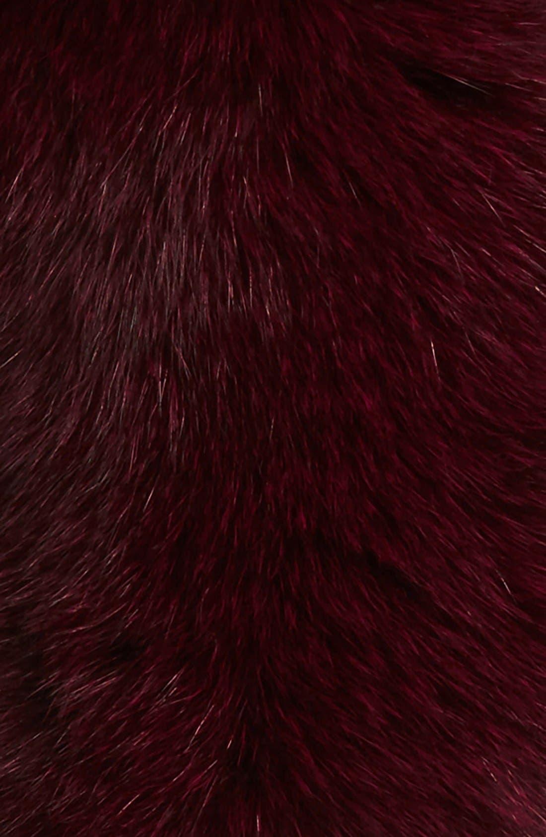 Genuine Fox Fur Collar,                             Alternate thumbnail 5, color,