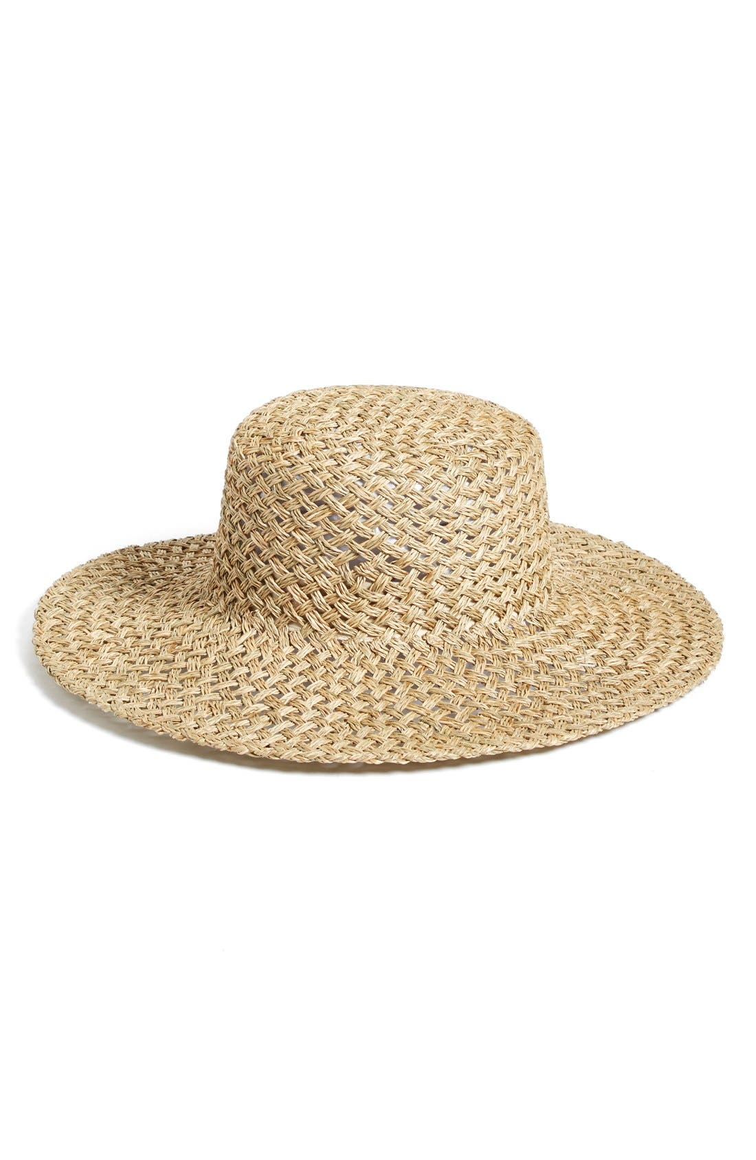 LACK OF COLOR 'The Sunny Dip' Wide Brim Woven Seagrass Hat - Beige in Natural Seagrass