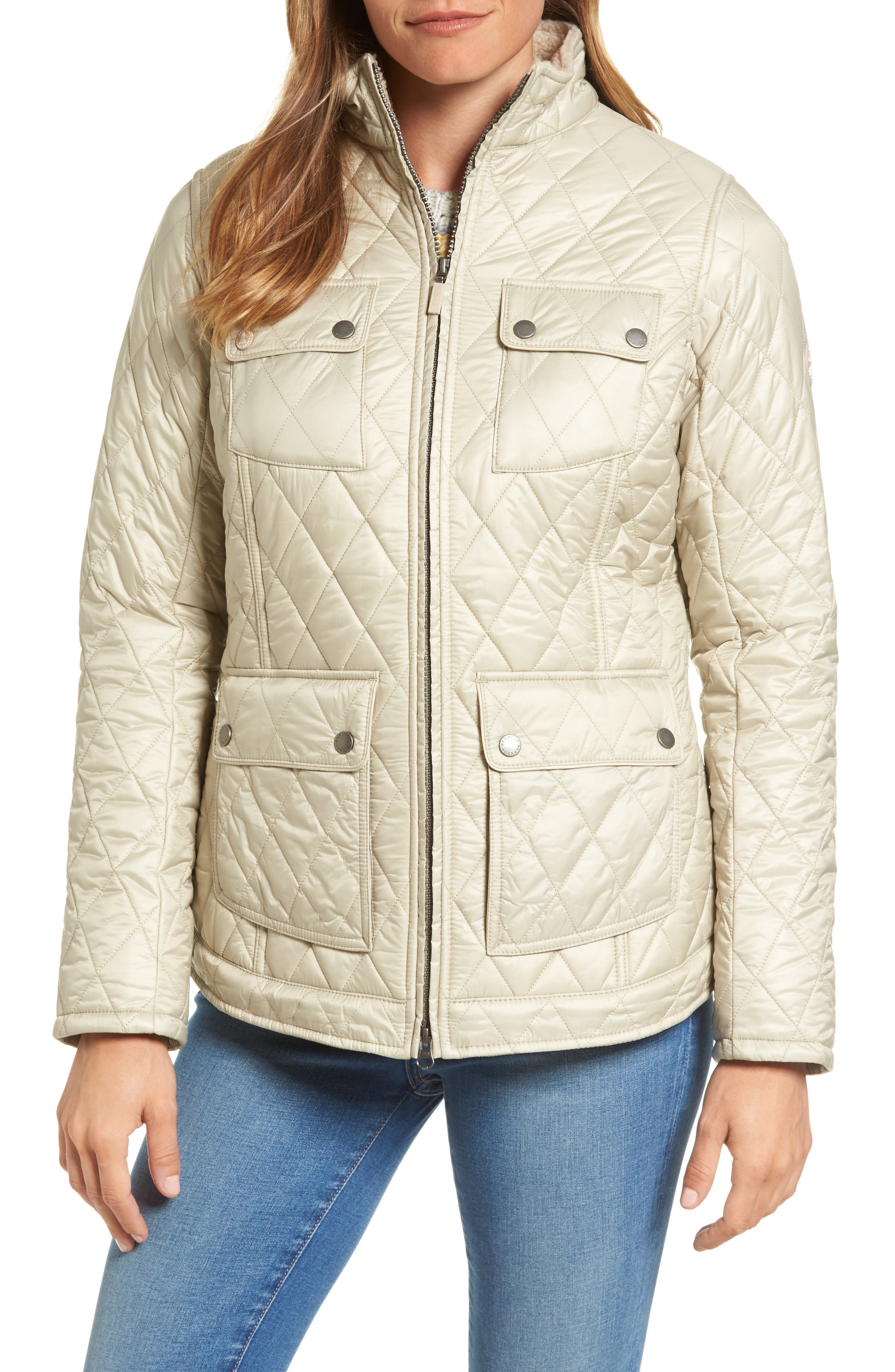 Filey Water Resistant Quilted Jacket,                             Alternate thumbnail 4, color,                             070