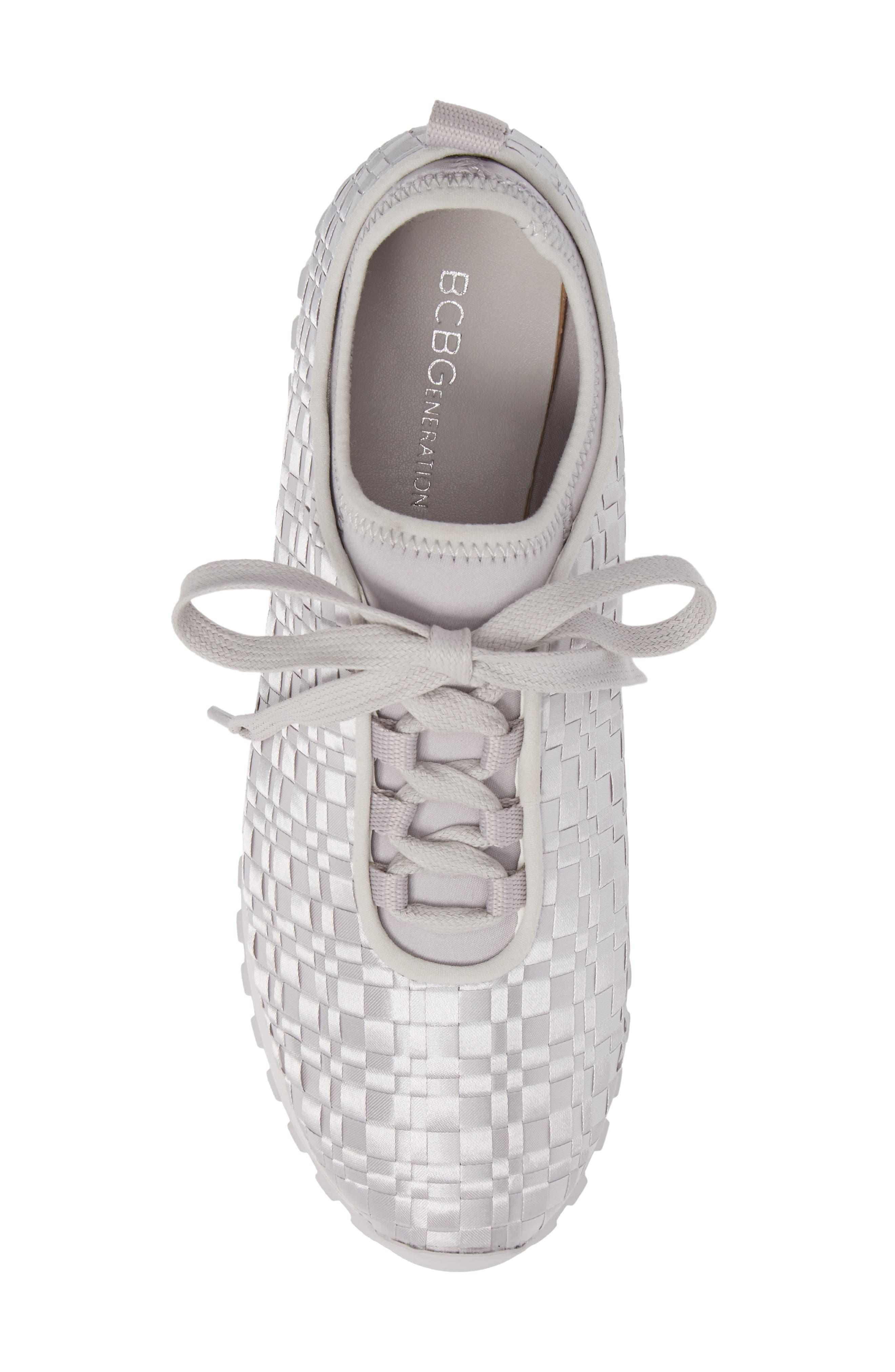 Lynn Sock Fit Woven Sneaker,                             Alternate thumbnail 5, color,                             074