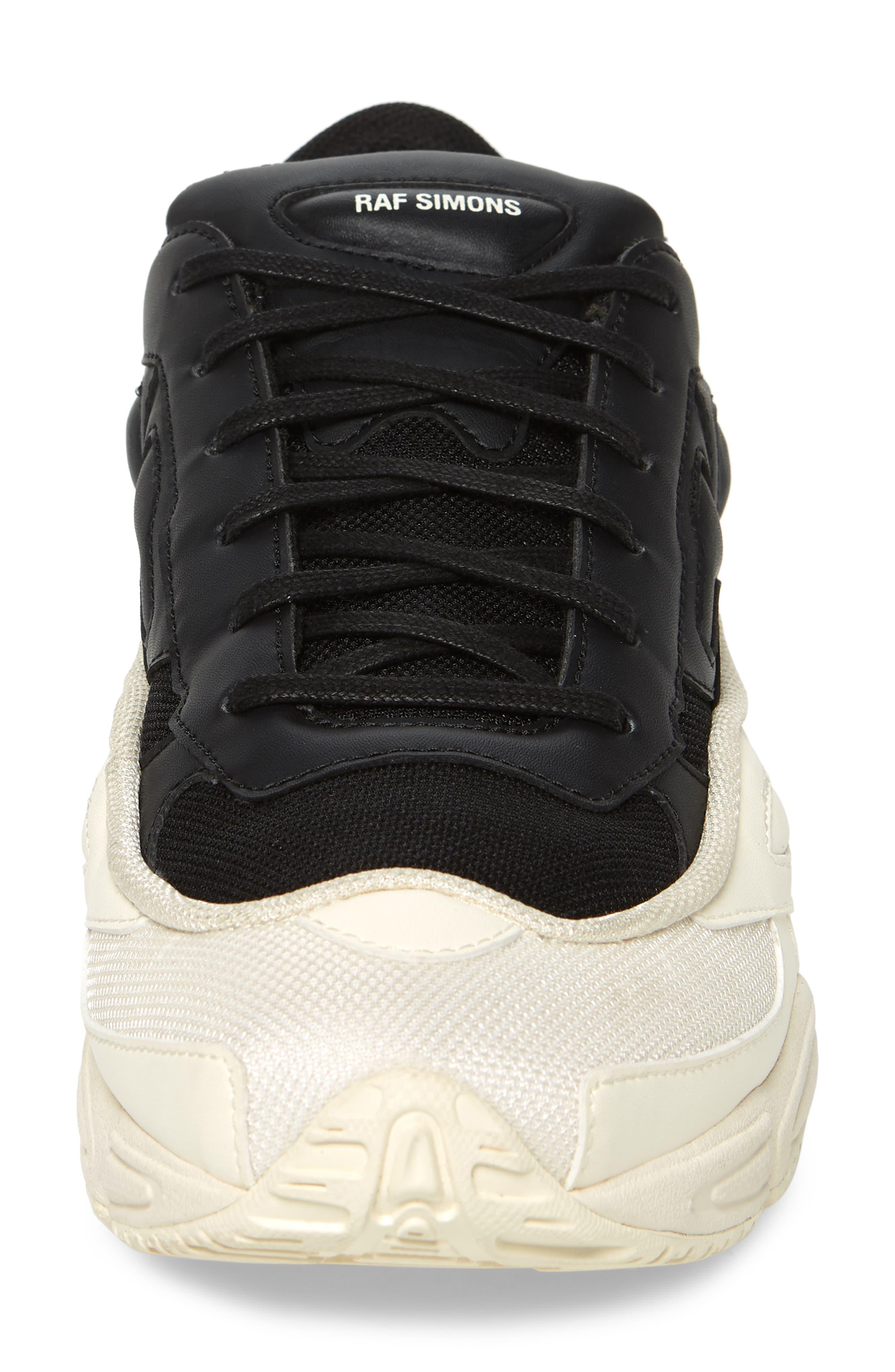 adidas by Raf Simons Ozweego III Sneaker,                             Alternate thumbnail 4, color,                             CREAM WHITE/ CORE BLACK