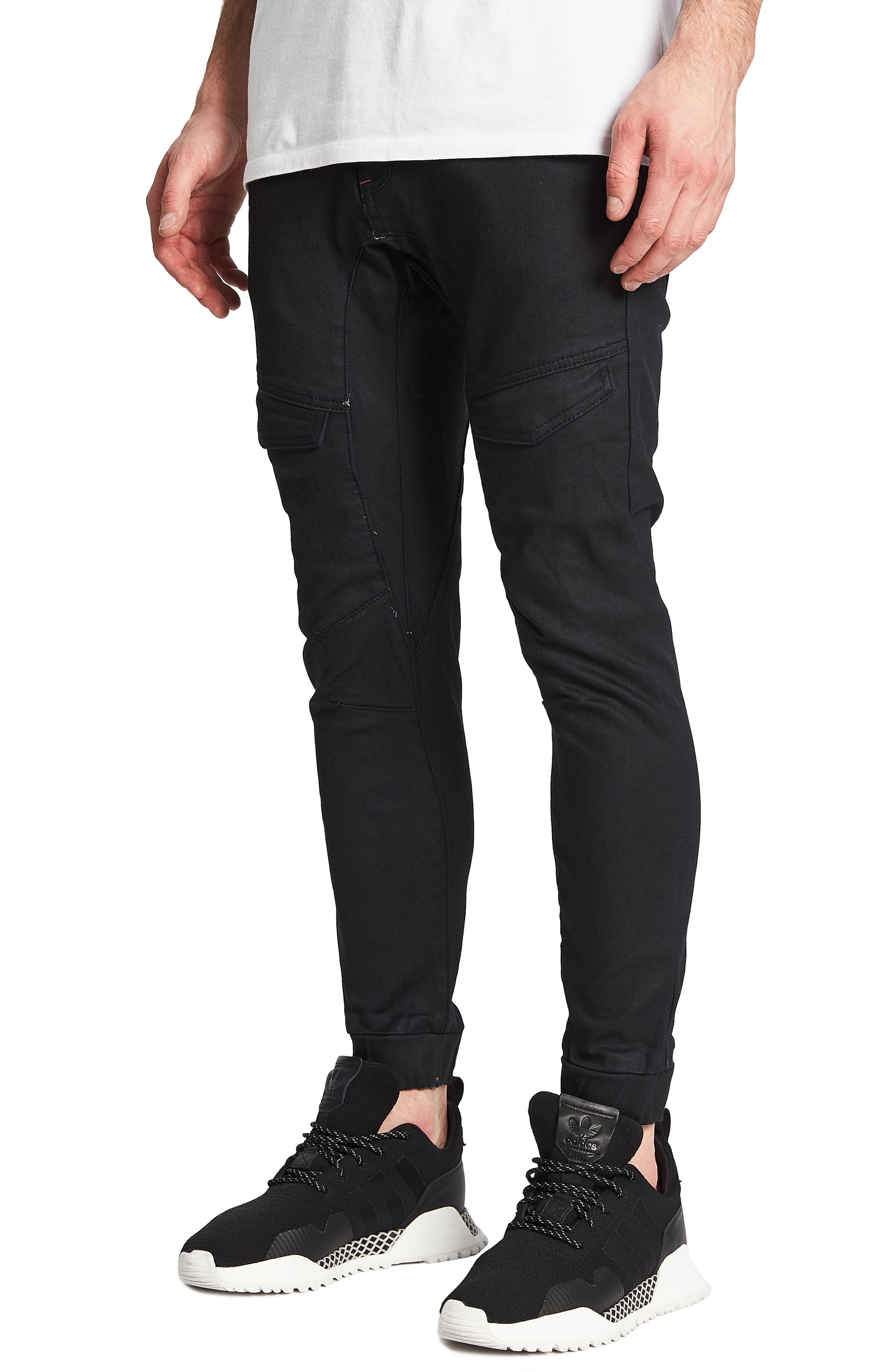 Flight Skinny Denim Jogger Pants,                             Alternate thumbnail 18, color,