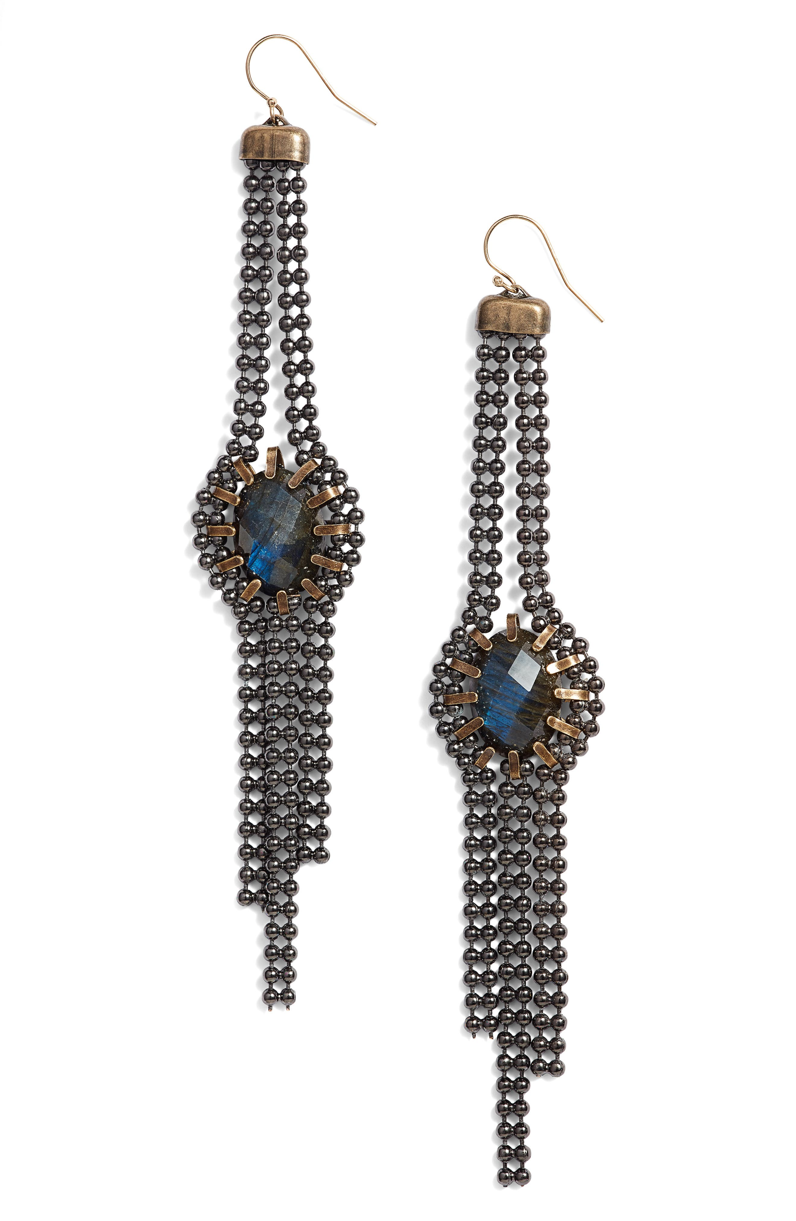 Labradorite Drop Earrings,                         Main,                         color, 001