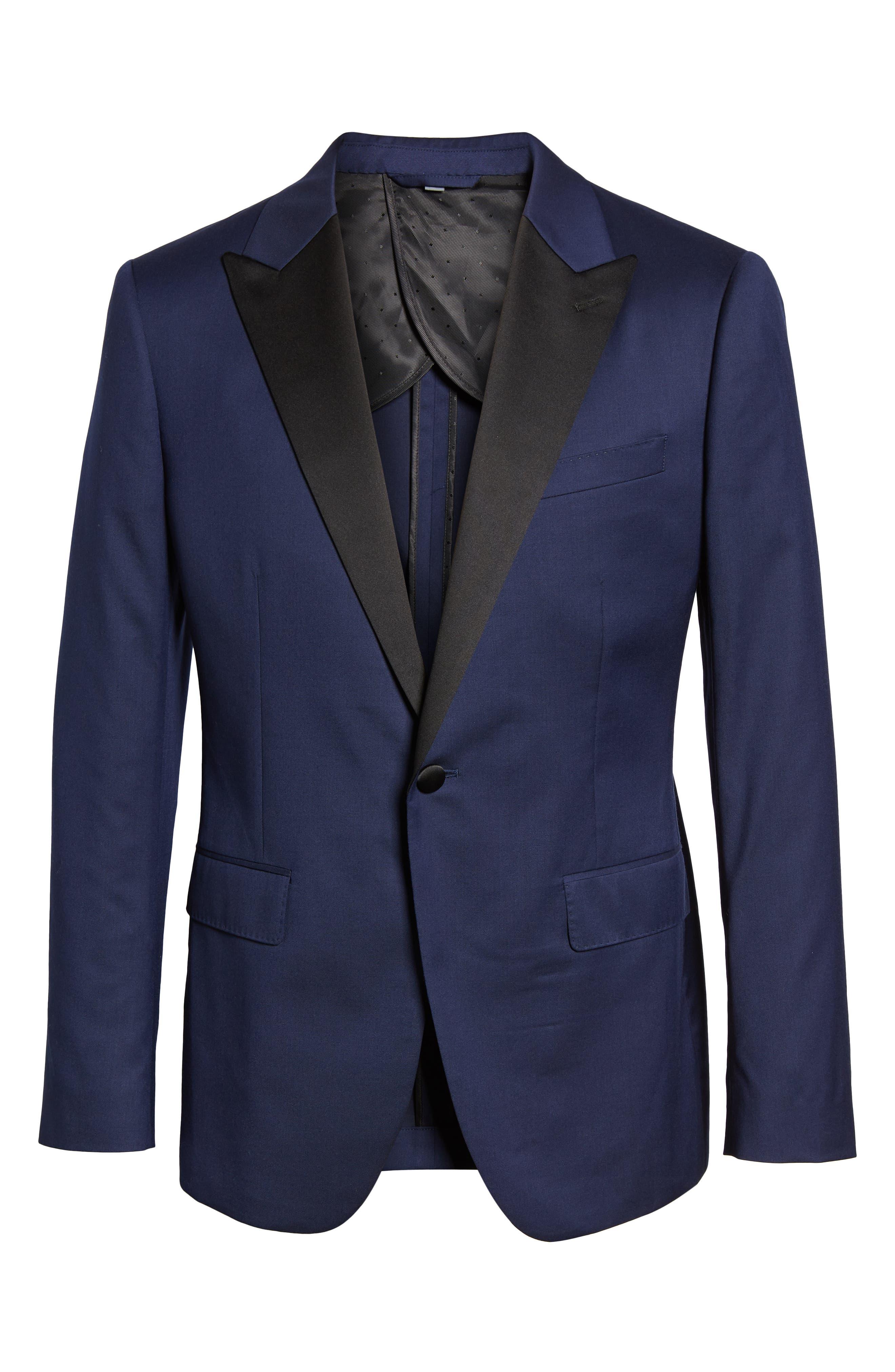 Capstone Slim Fit Italian Wool Blend Dinner Jacket,                             Alternate thumbnail 5, color,                             NAVY