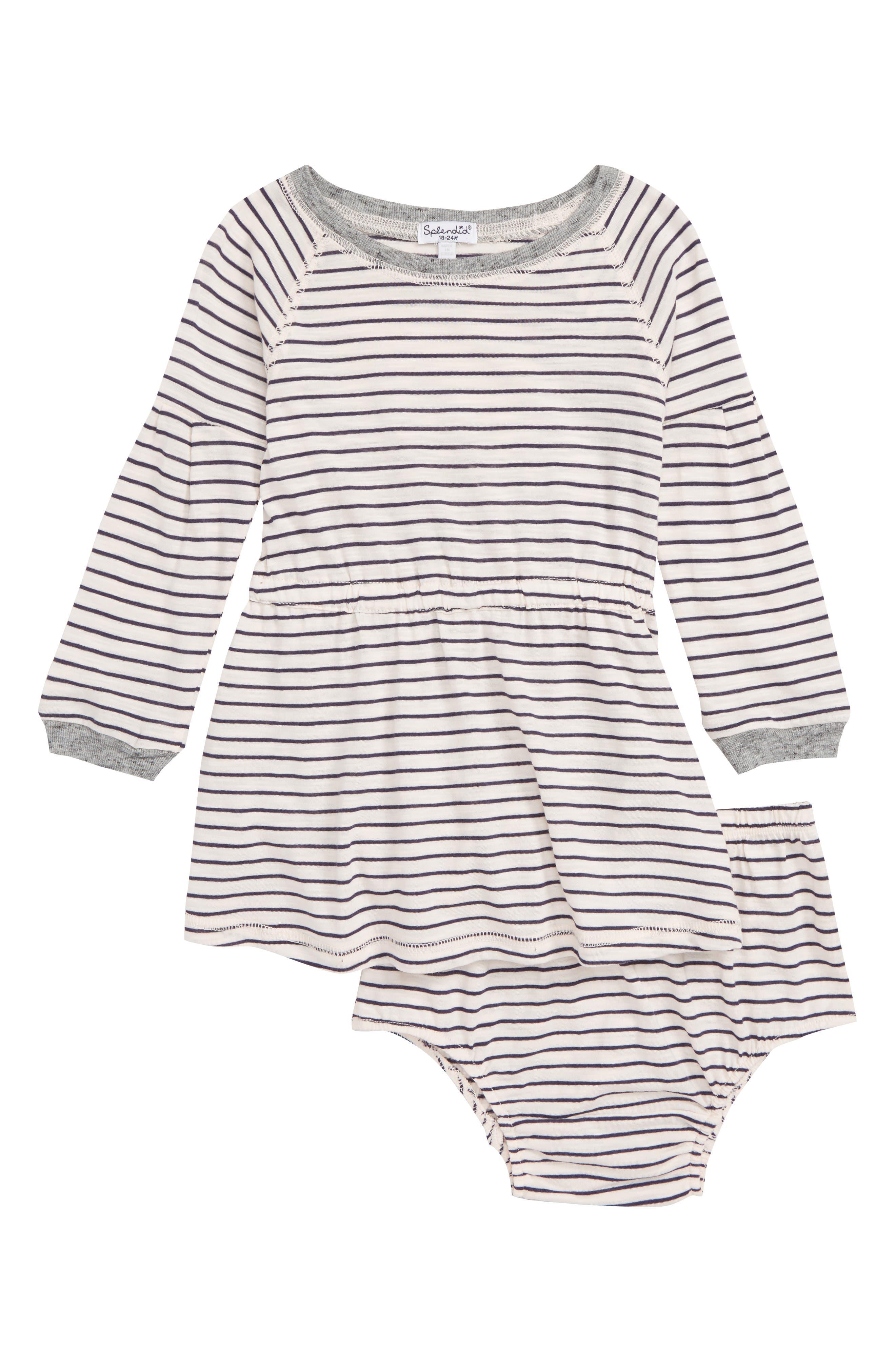 Stripe Dress,                         Main,                         color, 680