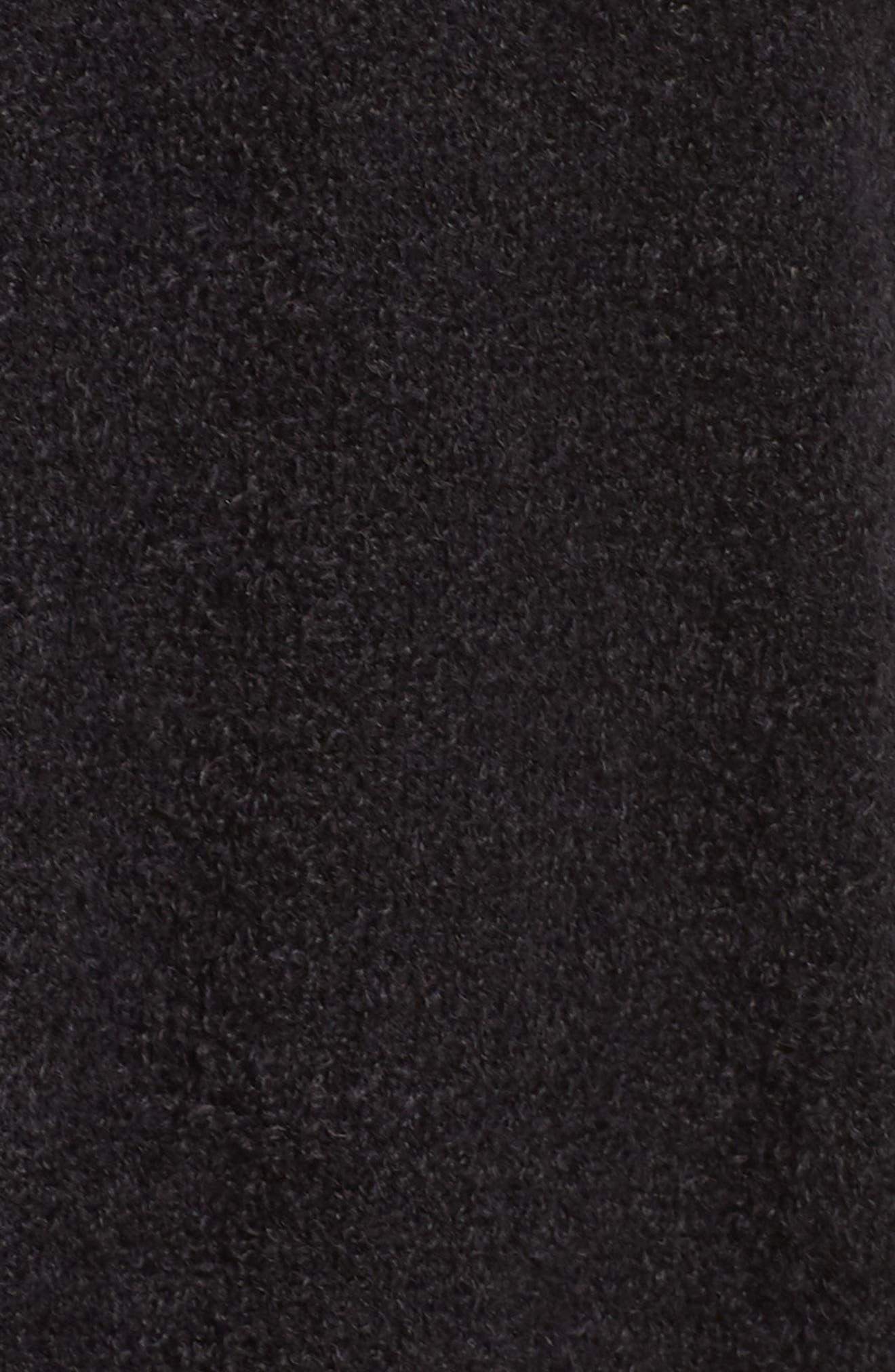 Off-Duty Plush Yarn Hoodie,                             Alternate thumbnail 5, color,                             BLACK
