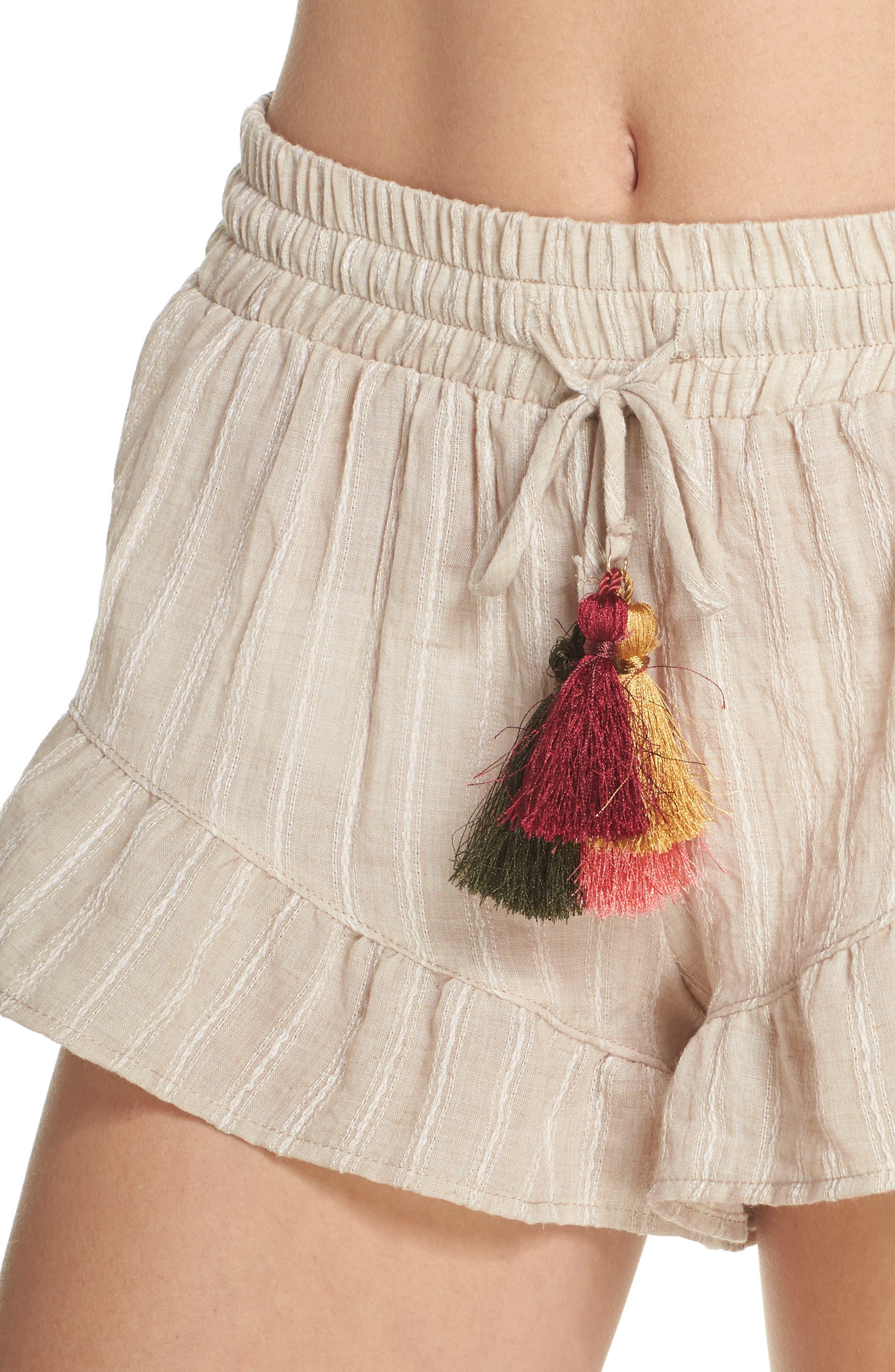 Ruffle Cover-Up Shorts,                             Alternate thumbnail 4, color,                             250