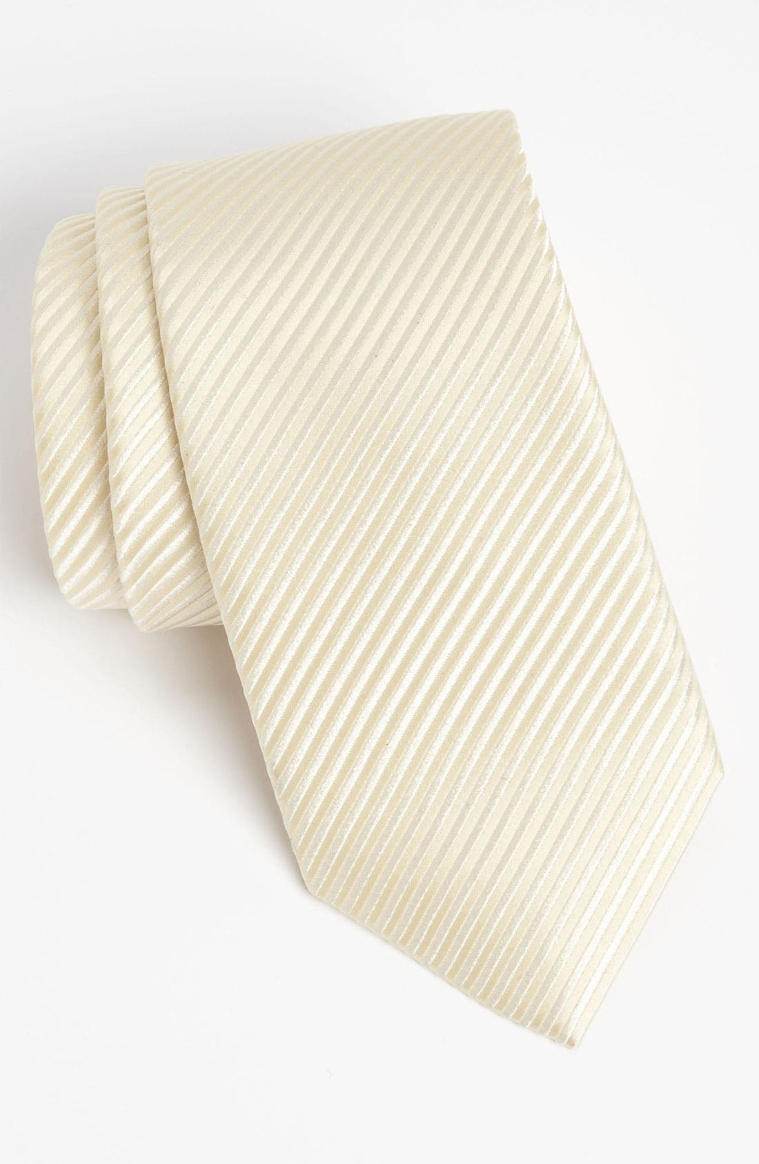 Woven Silk Tie,                             Main thumbnail 1, color,                             CHAMPAGNE