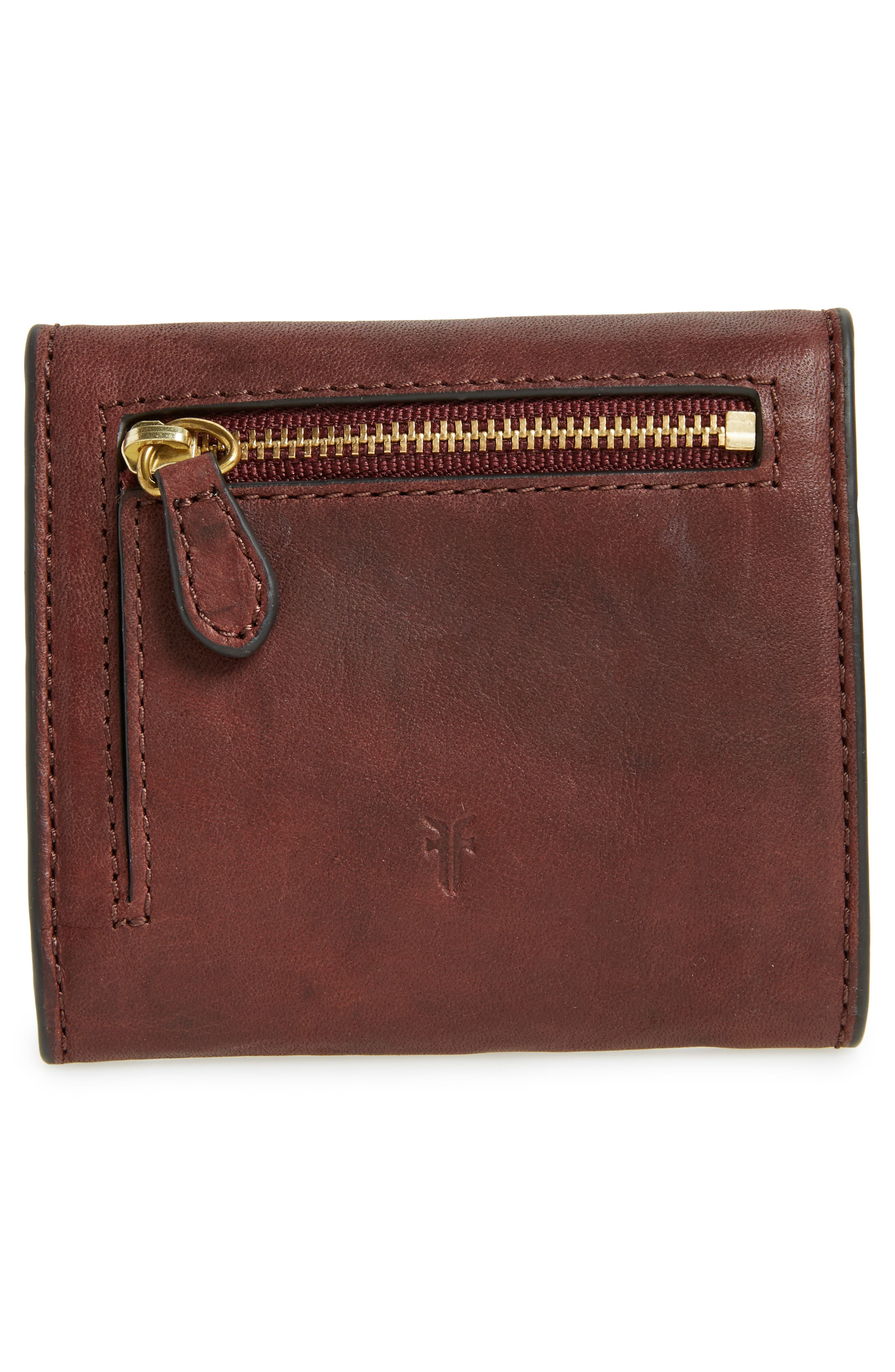 Medium Campus Rivet Leather Wallet,                             Alternate thumbnail 4, color,                             210