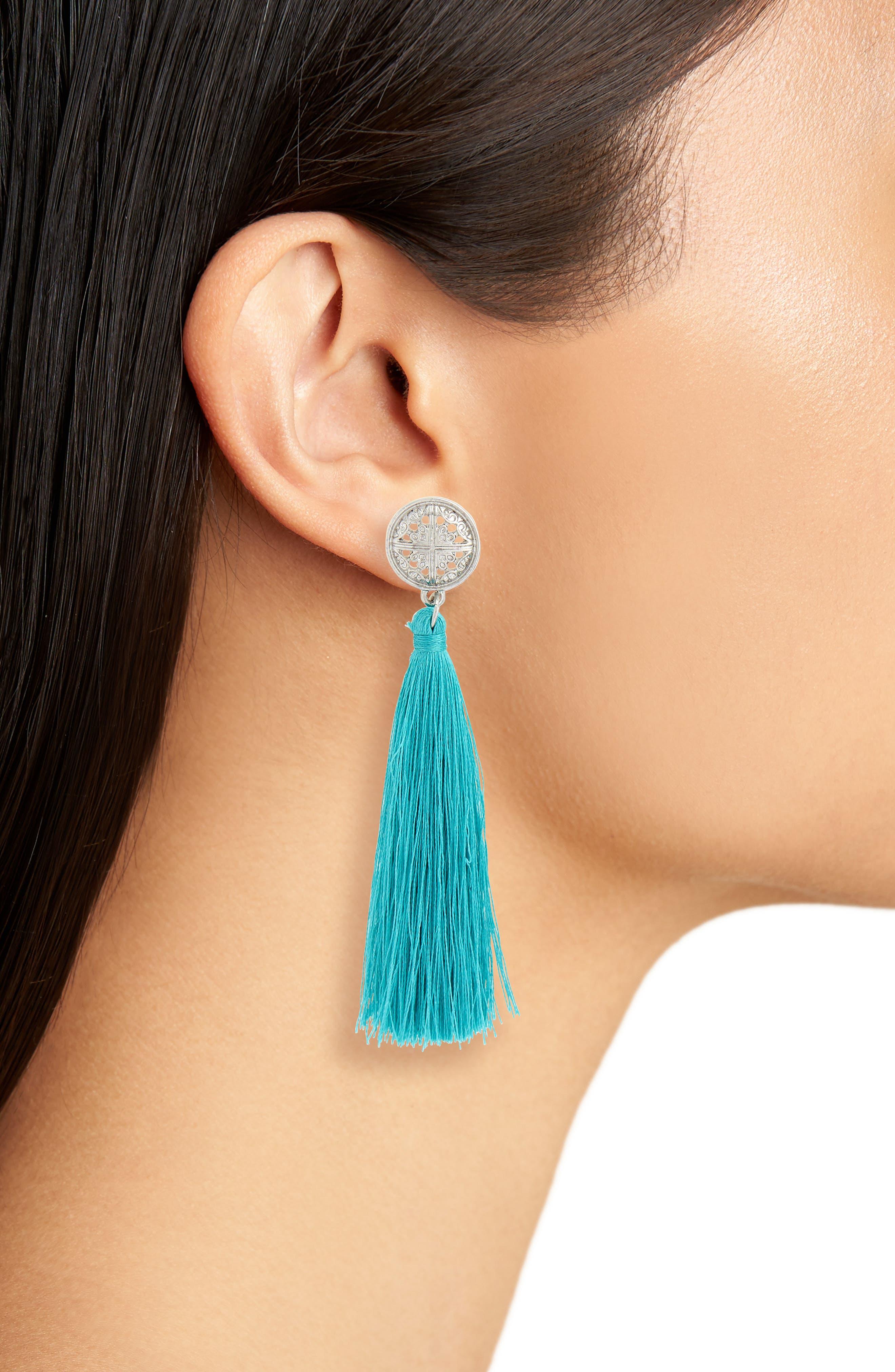 Tassel Coin Earrings,                             Alternate thumbnail 2, color,                             440