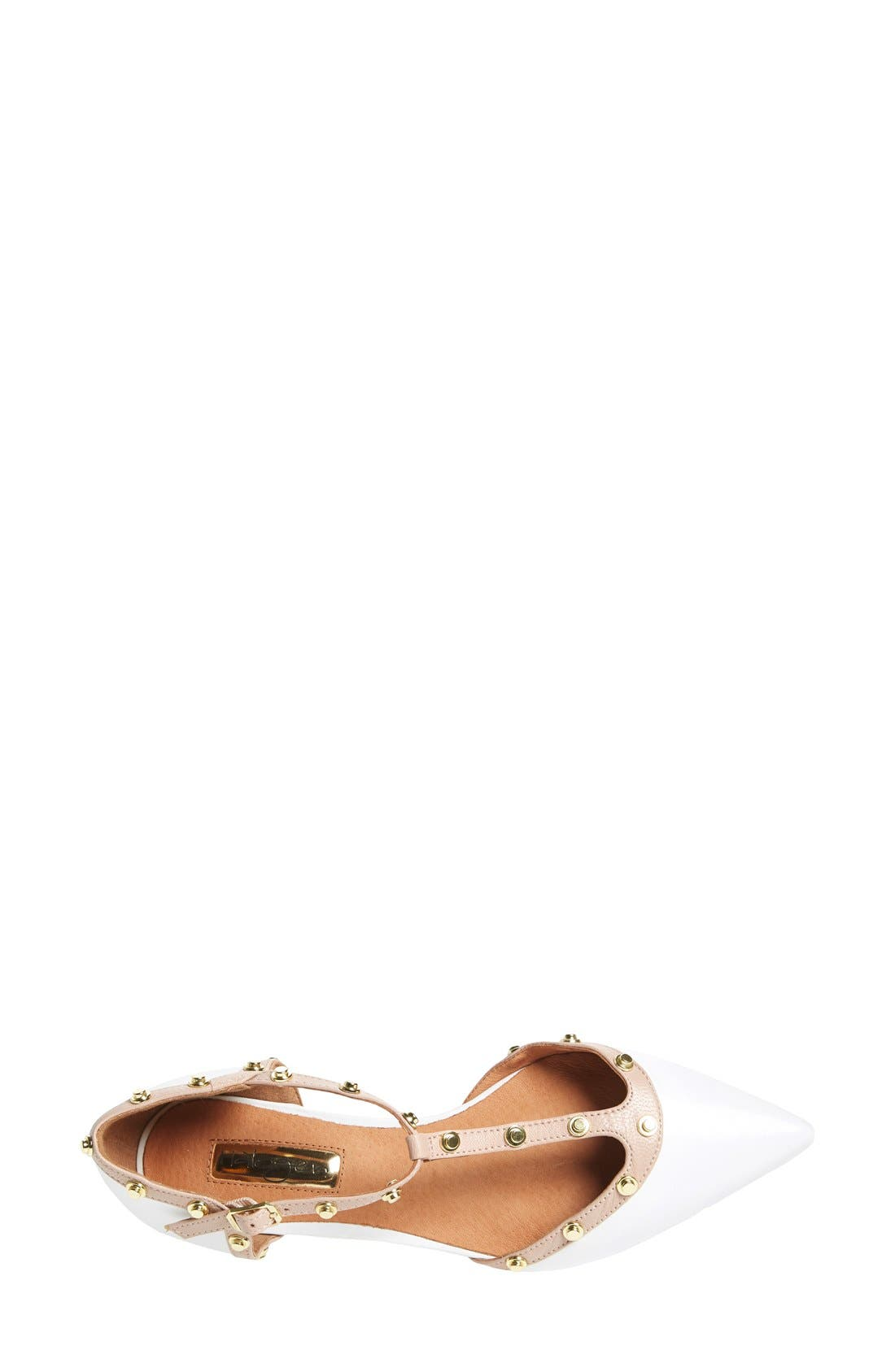 'Olson' Pointy Toe Studded T-Strap Flat,                             Alternate thumbnail 40, color,