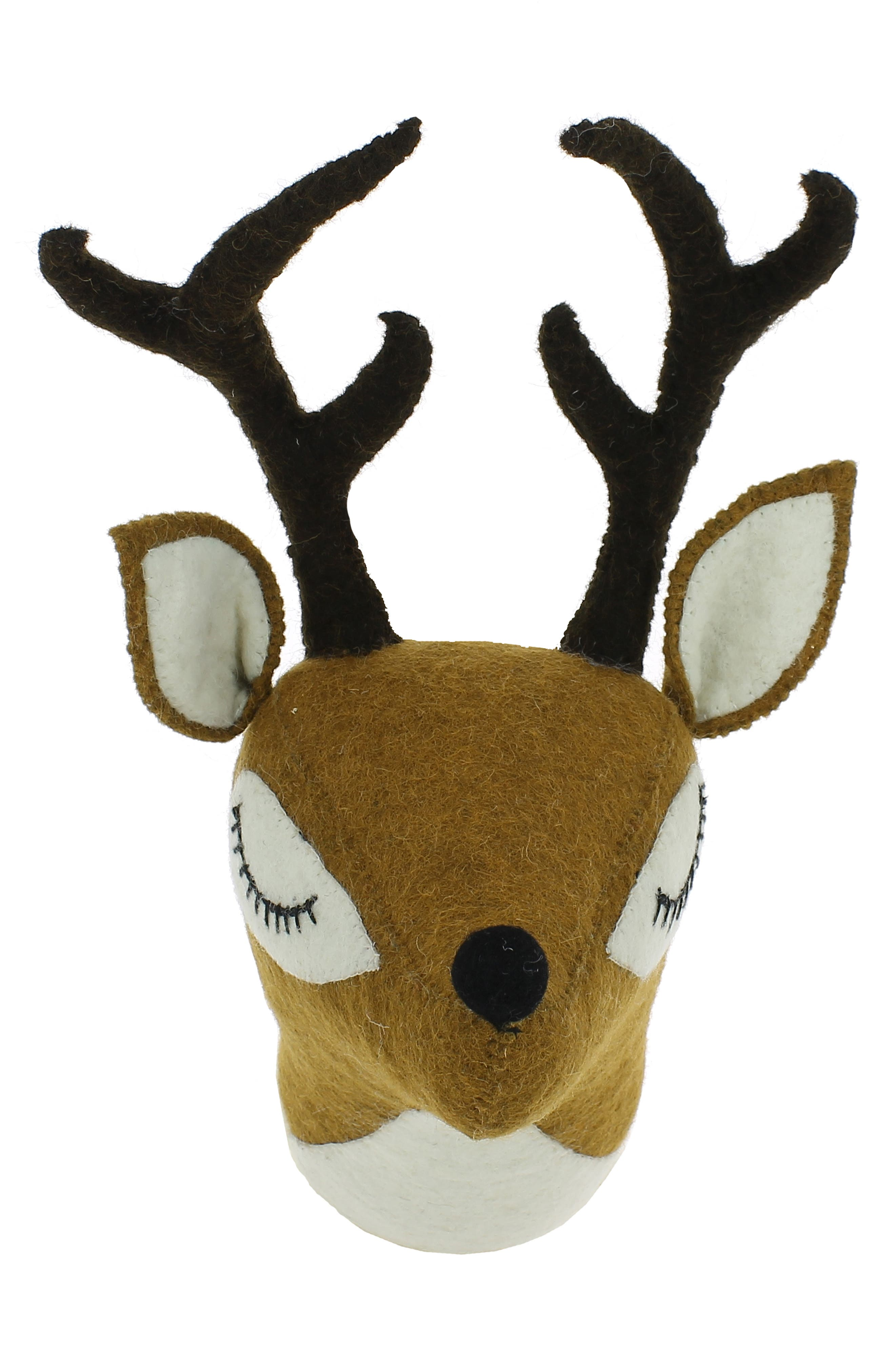 Fiona Walker Mini Sleepy Deer Head Wall Art