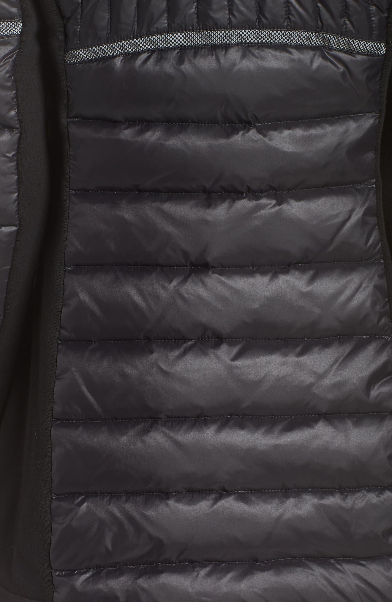 Reflective Down Puffer Jacket,                             Alternate thumbnail 7, color,                             BLACK/ BLACK