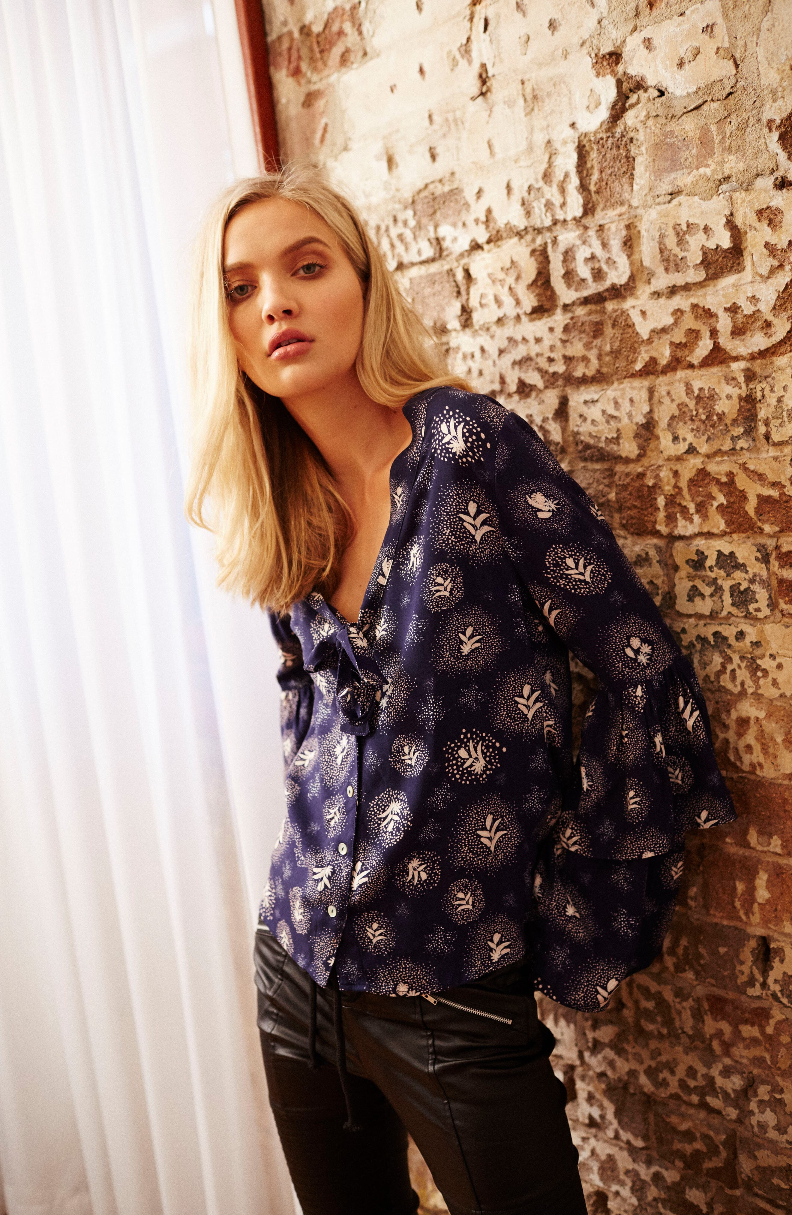 Glimmering Nights Blouse,                             Alternate thumbnail 7, color,