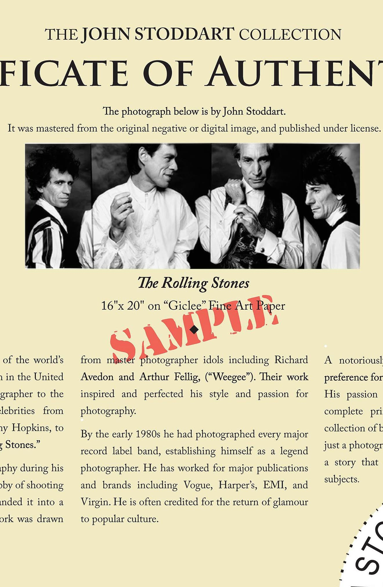 The Rolling Stones Fine Art Print,                             Alternate thumbnail 2, color,                             BLACK