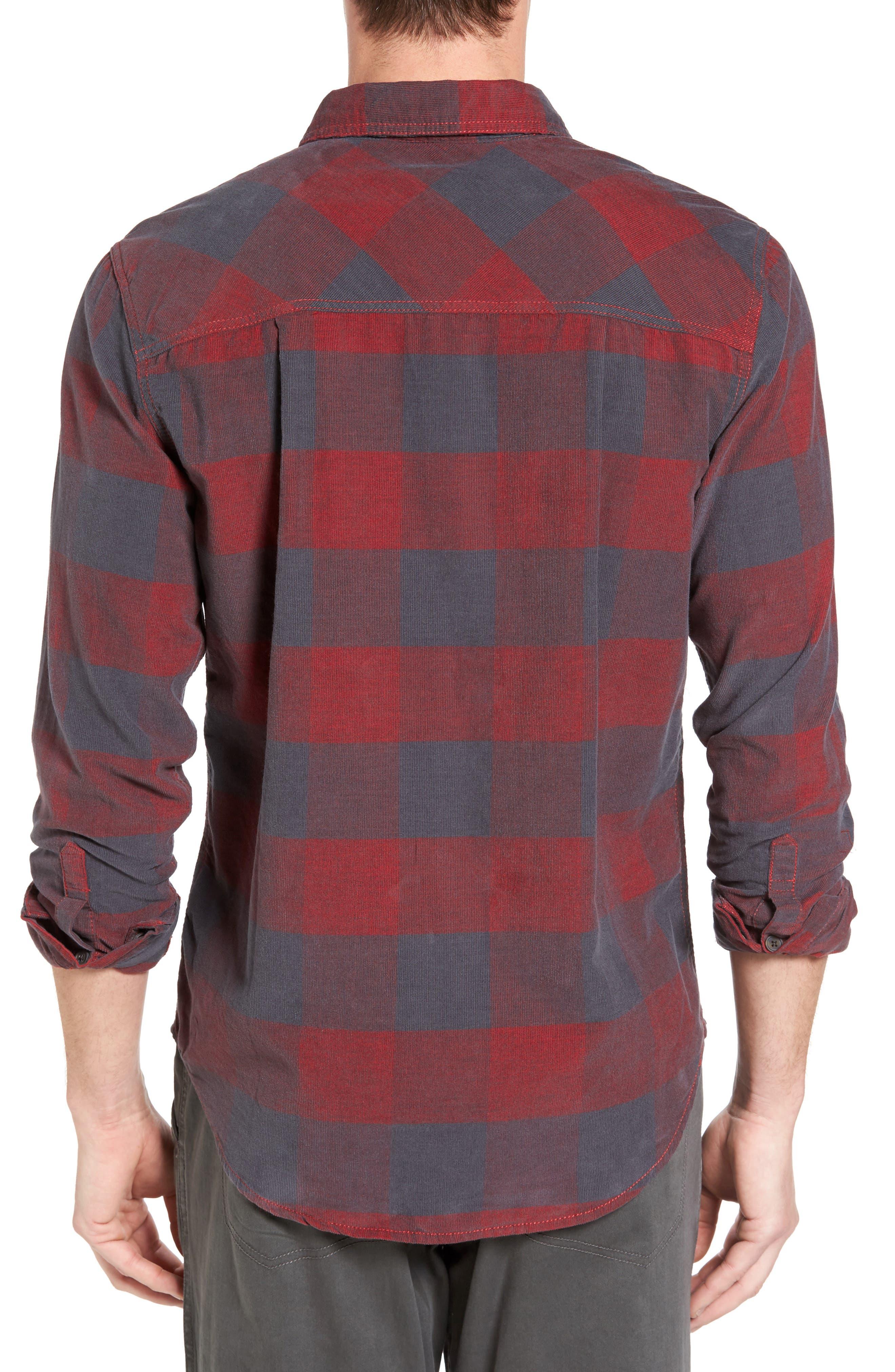 Knock on My Door Regular Fit Check Corduroy Shirt,                             Alternate thumbnail 6, color,