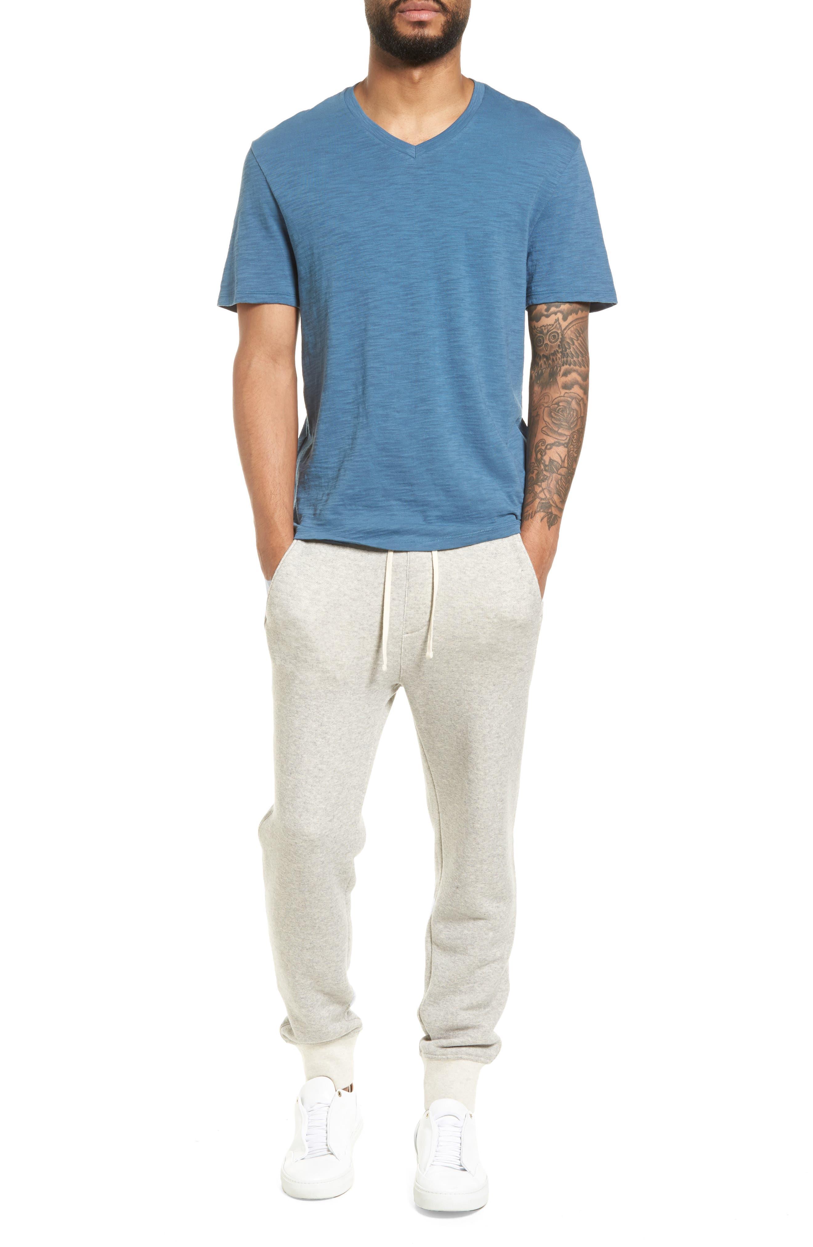 Slim Fit Slub V-Neck T-Shirt,                             Alternate thumbnail 13, color,