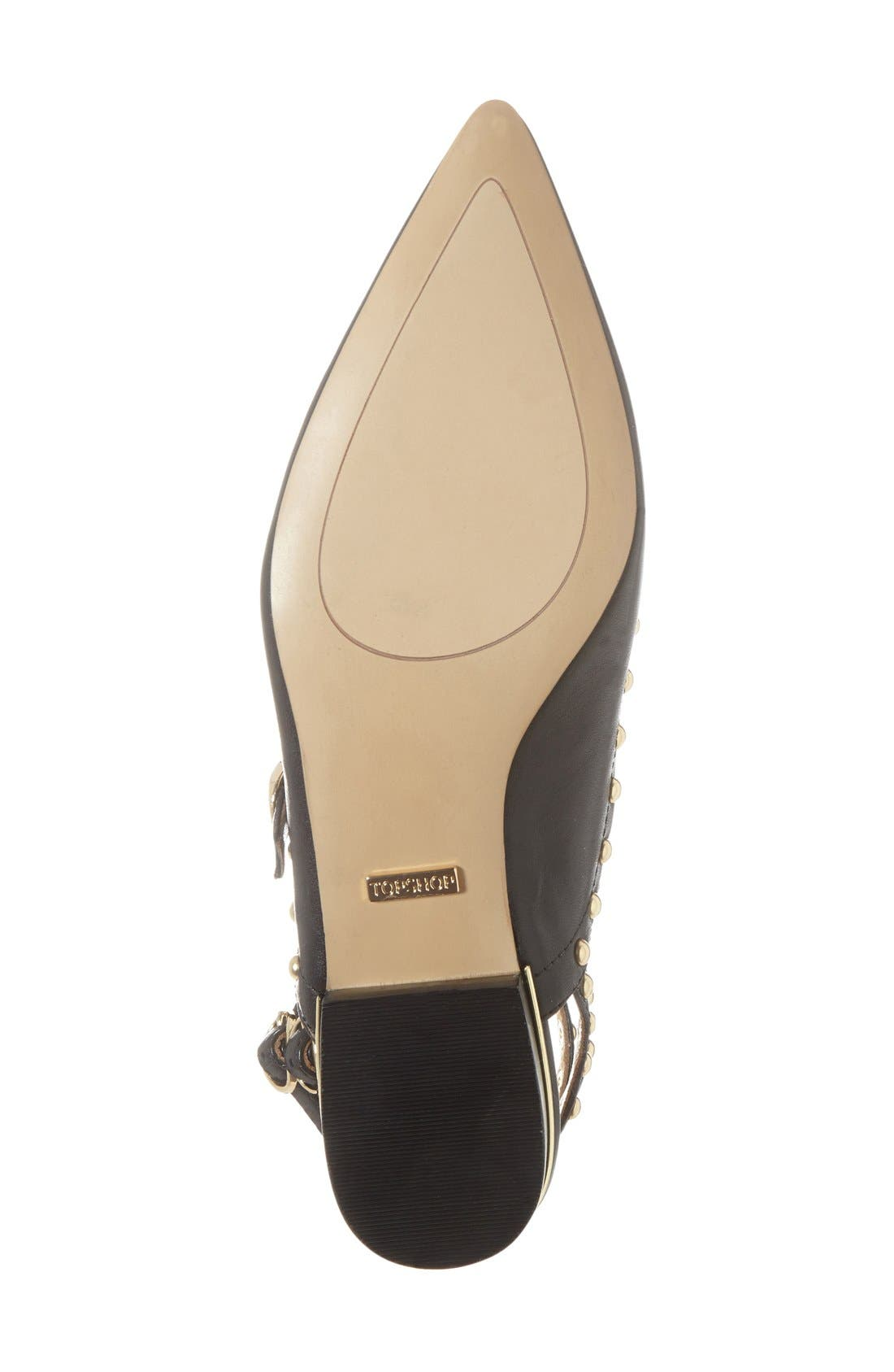 'Kate' Studded Cutout Sandal,                             Alternate thumbnail 2, color,                             001
