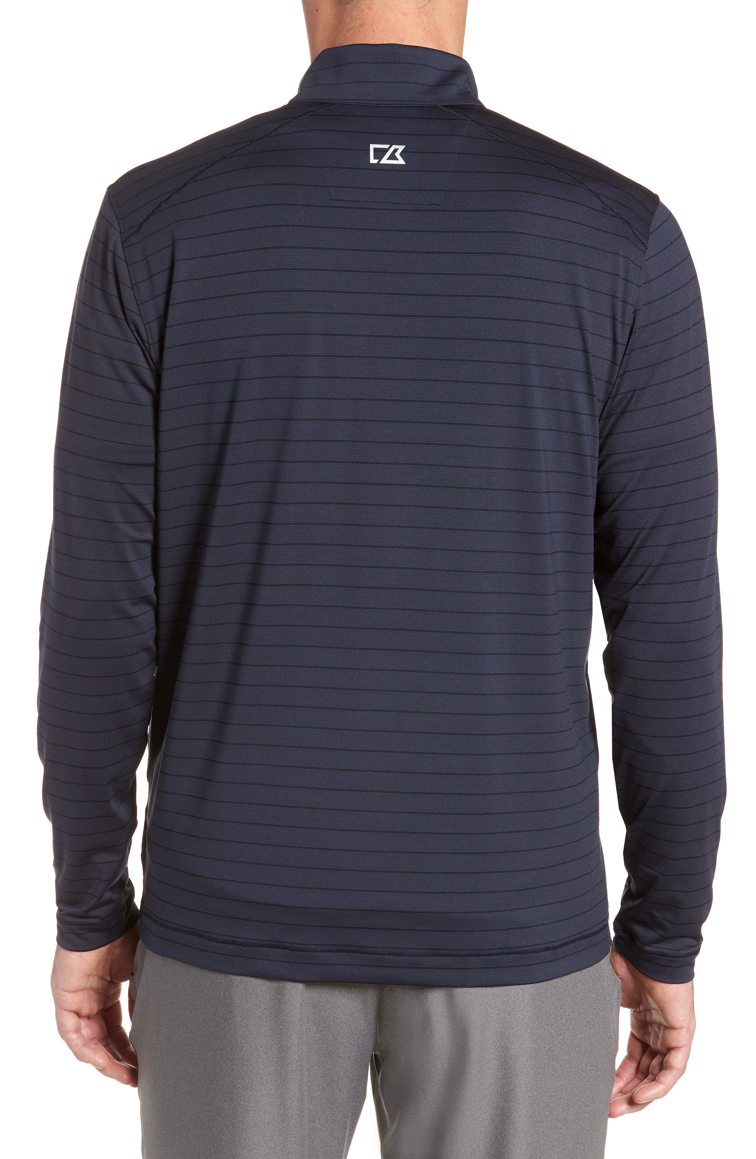 Holman Stripe Half Zip Pullover,                             Alternate thumbnail 2, color,                             LIBERTY NAVY HEATHER