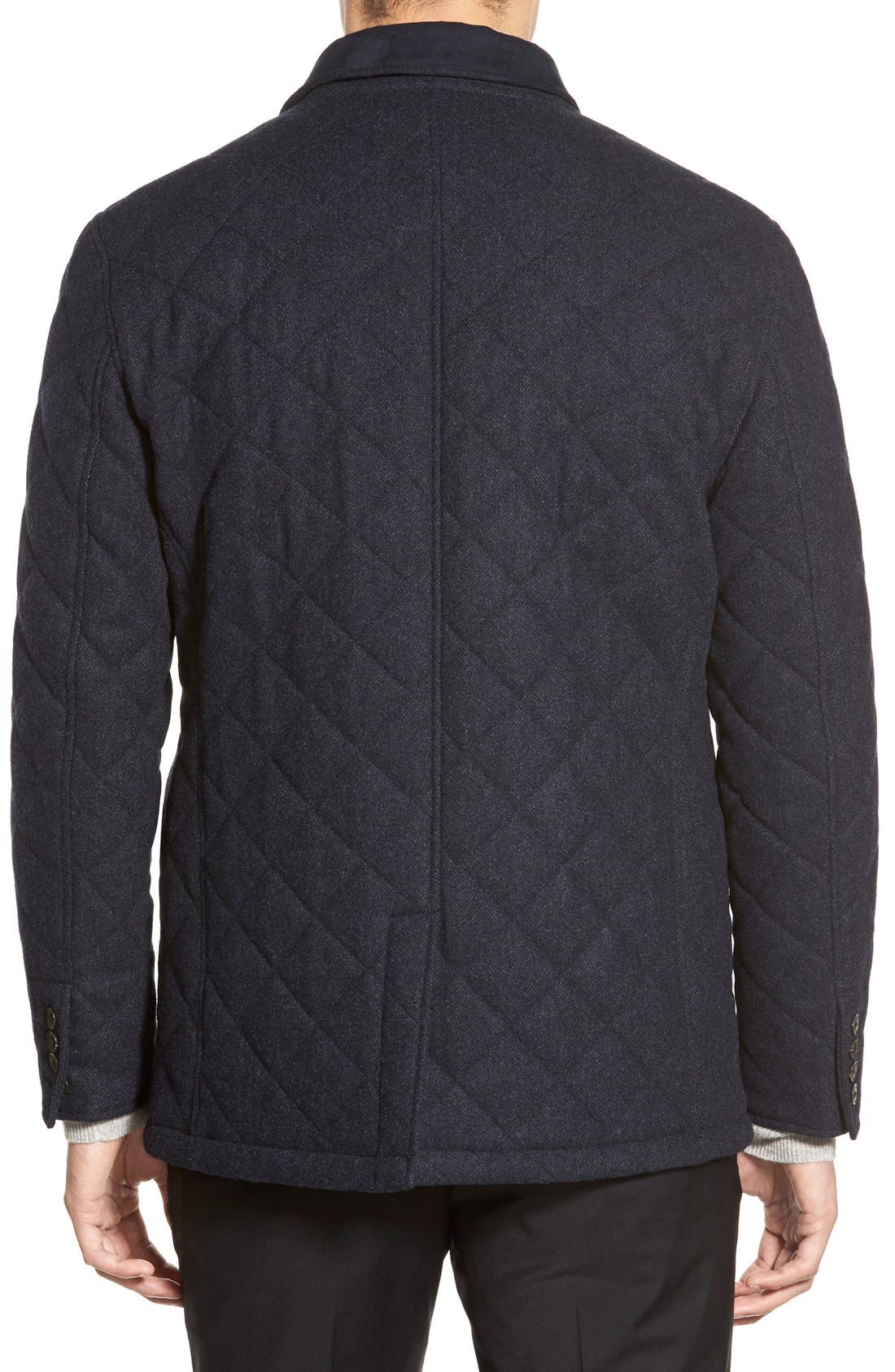 'Shooter' Wool Blend Quilted Jacket,                             Alternate thumbnail 6, color,